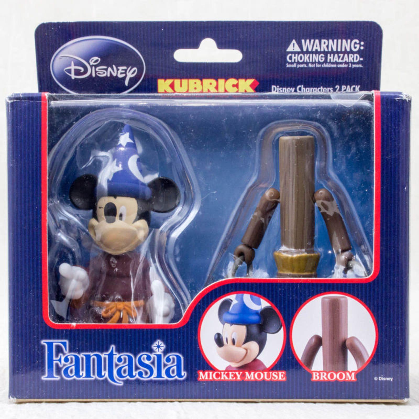 Disney Mickey Mouse & Broom Fantasia figure set  Kubrick Medicom Toy JAPAN ANIME