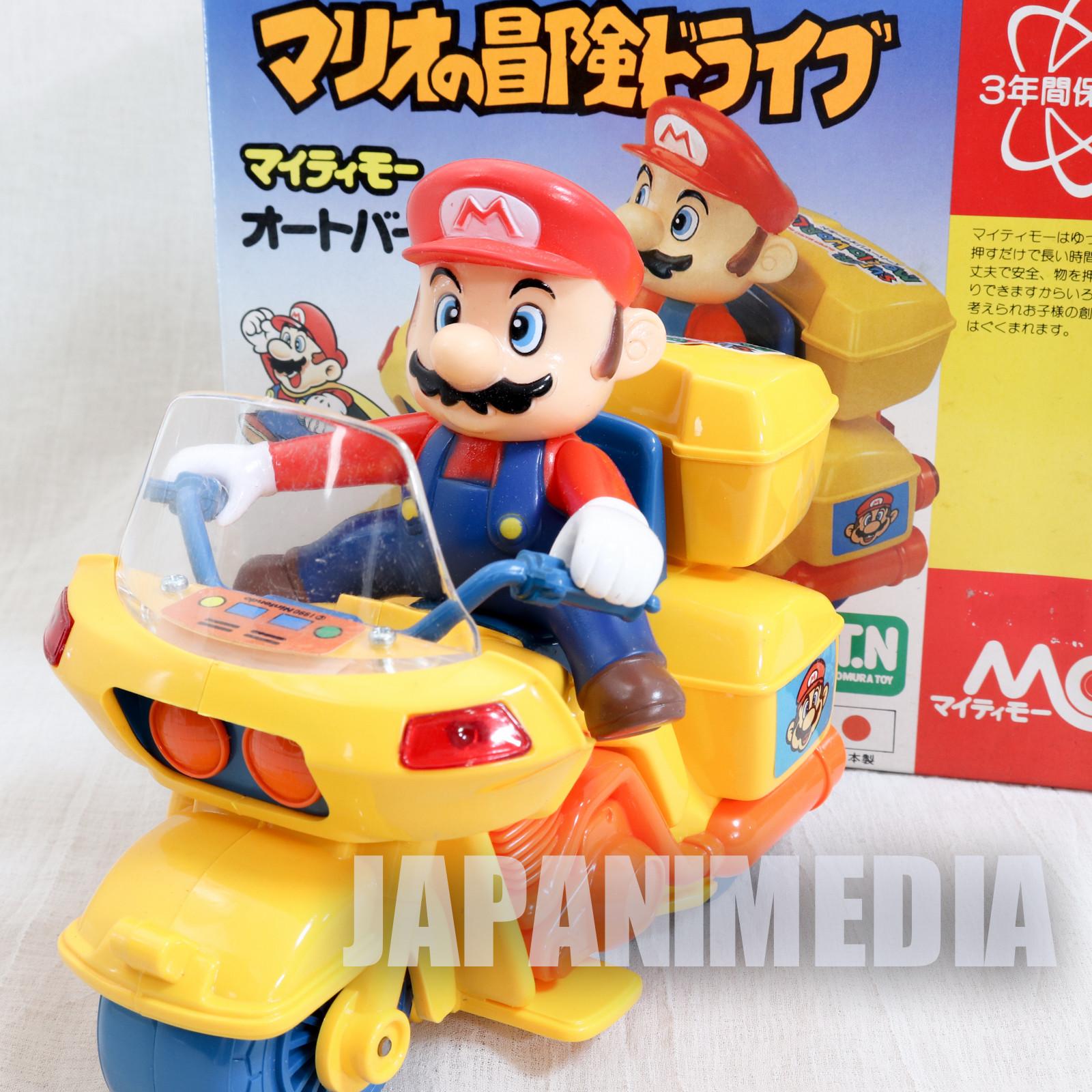 Retro RARE! Super Mario World Mario on Motorcycle Figure Nomura Toy JAPAN