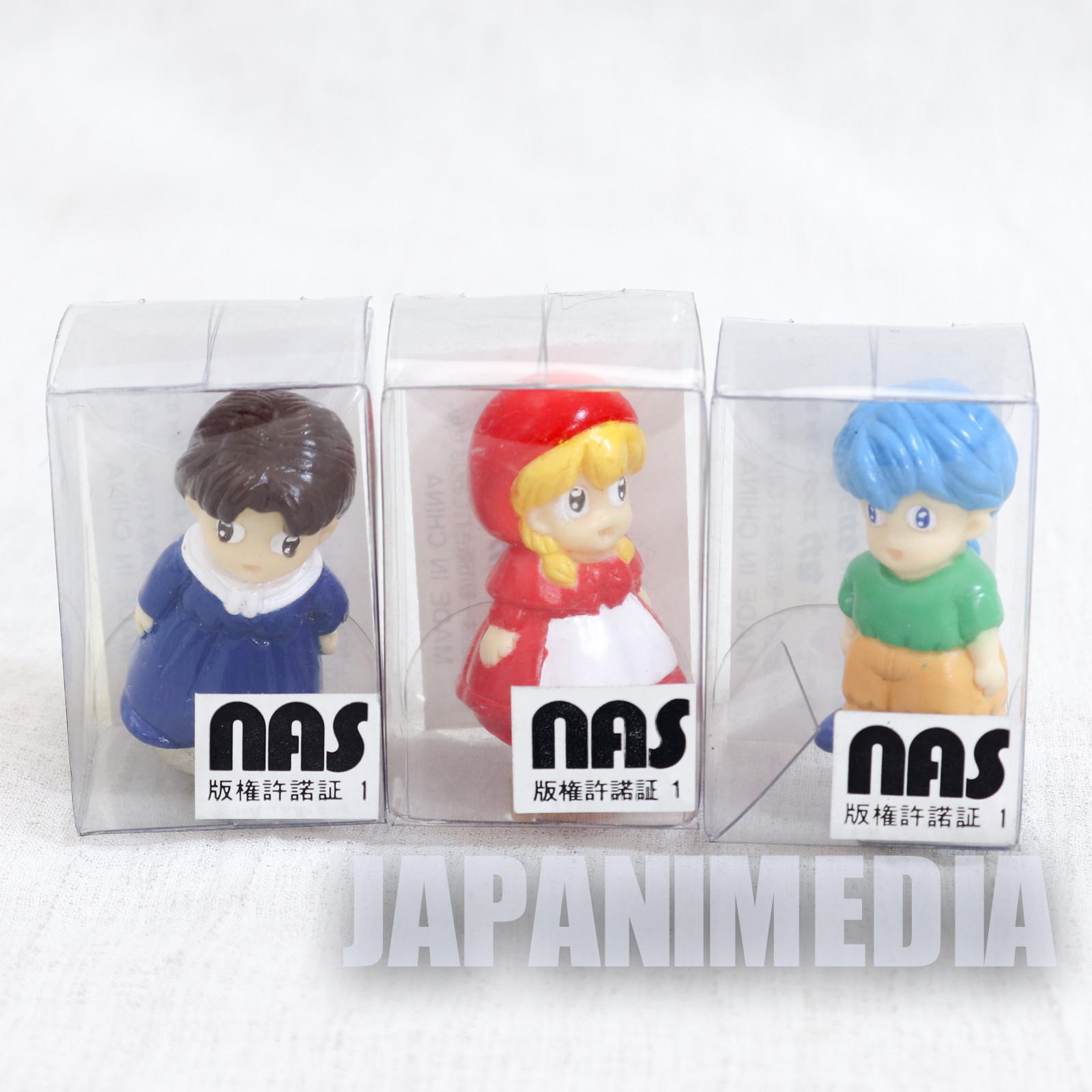 Akazukin Chacha Shiine Riiya Mini Figure with Sucker Set JAPAN ANIME