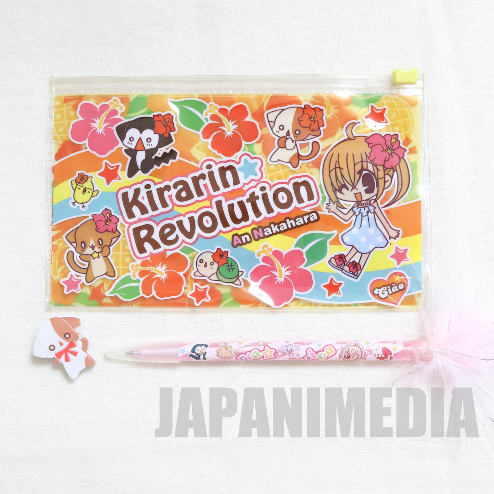 Kirarin Revolution Nylon Case & Point Pen & Na-san Clip JAPAN MANGA
