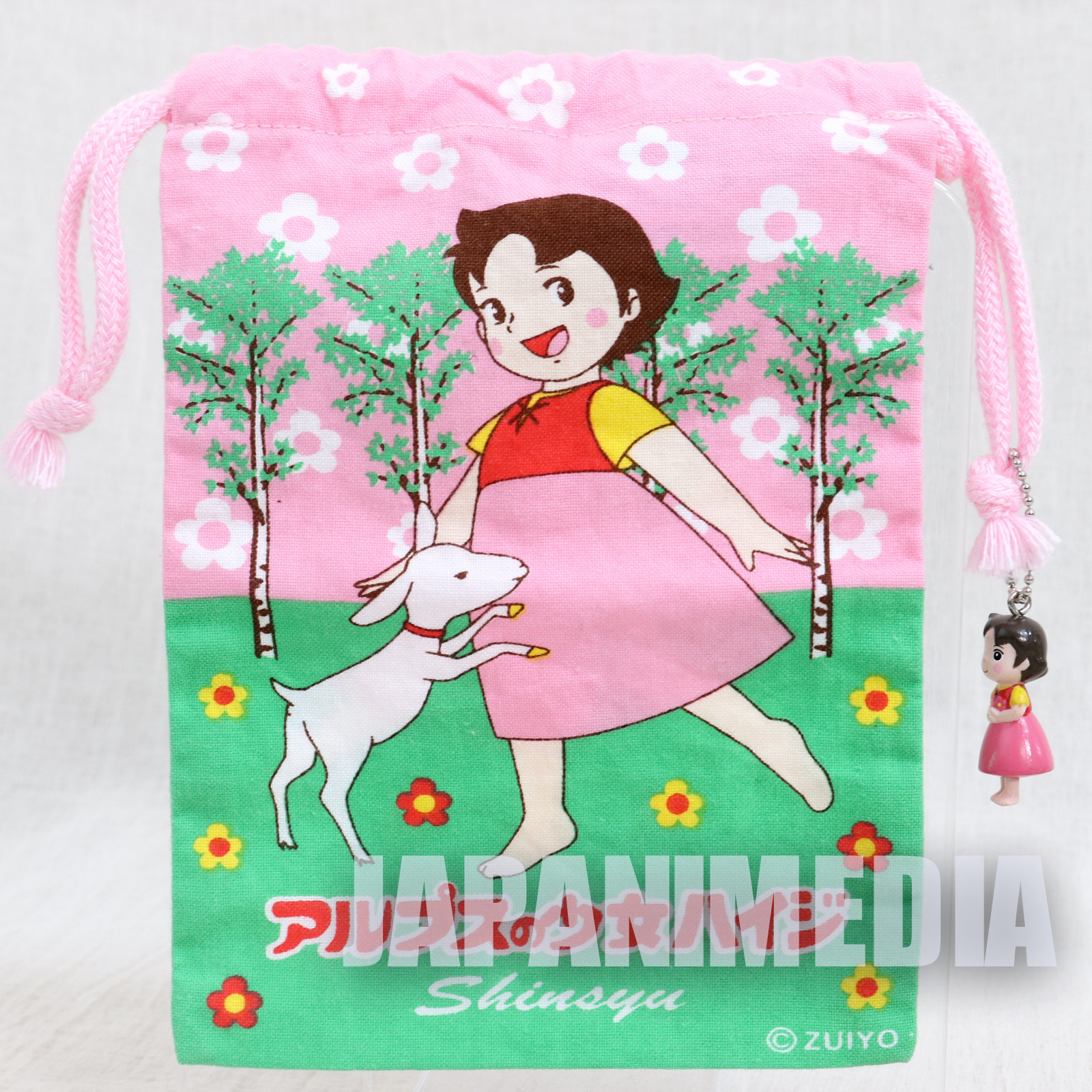 Heidi Girl of the Alps Small Drawstring Bag JAPAN ANIME