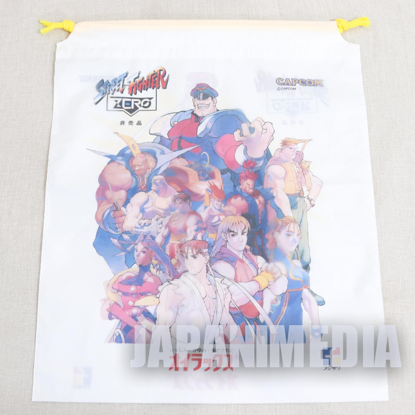 Street Fighter Zero Promotion Vinyl Drawstring Bag #1 JAPAN GAME ALPHA