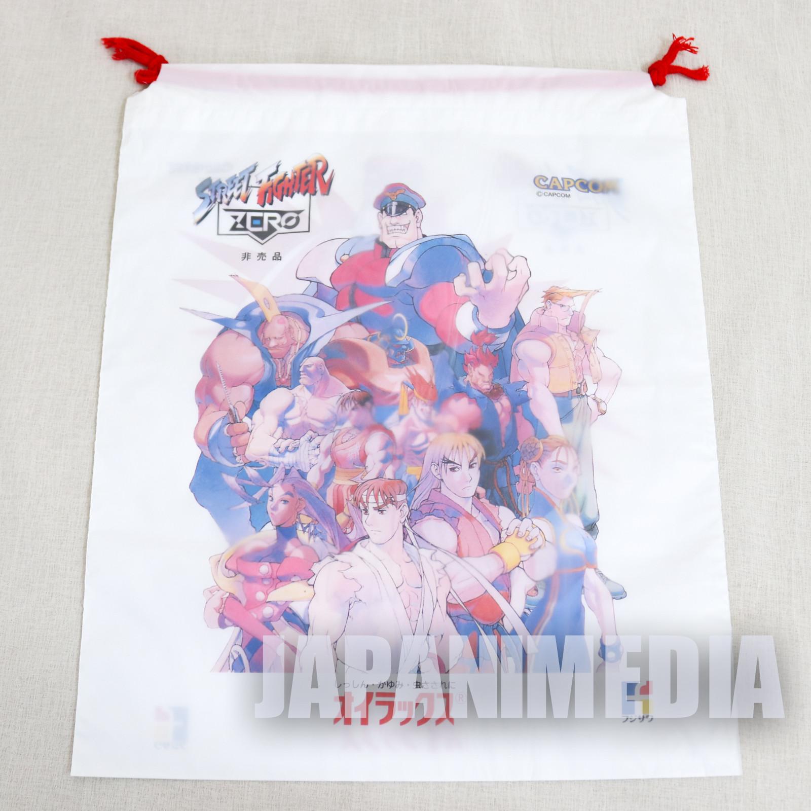 Street Fighter Zero Promotion Vinyl Drawstring Bag #2 JAPAN GAME ALPHA