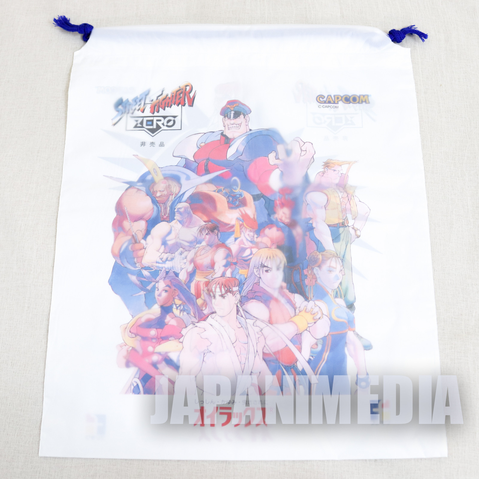 Street Fighter Zero Promotion Vinyl Drawstring Bag #3 JAPAN GAME ALPHA