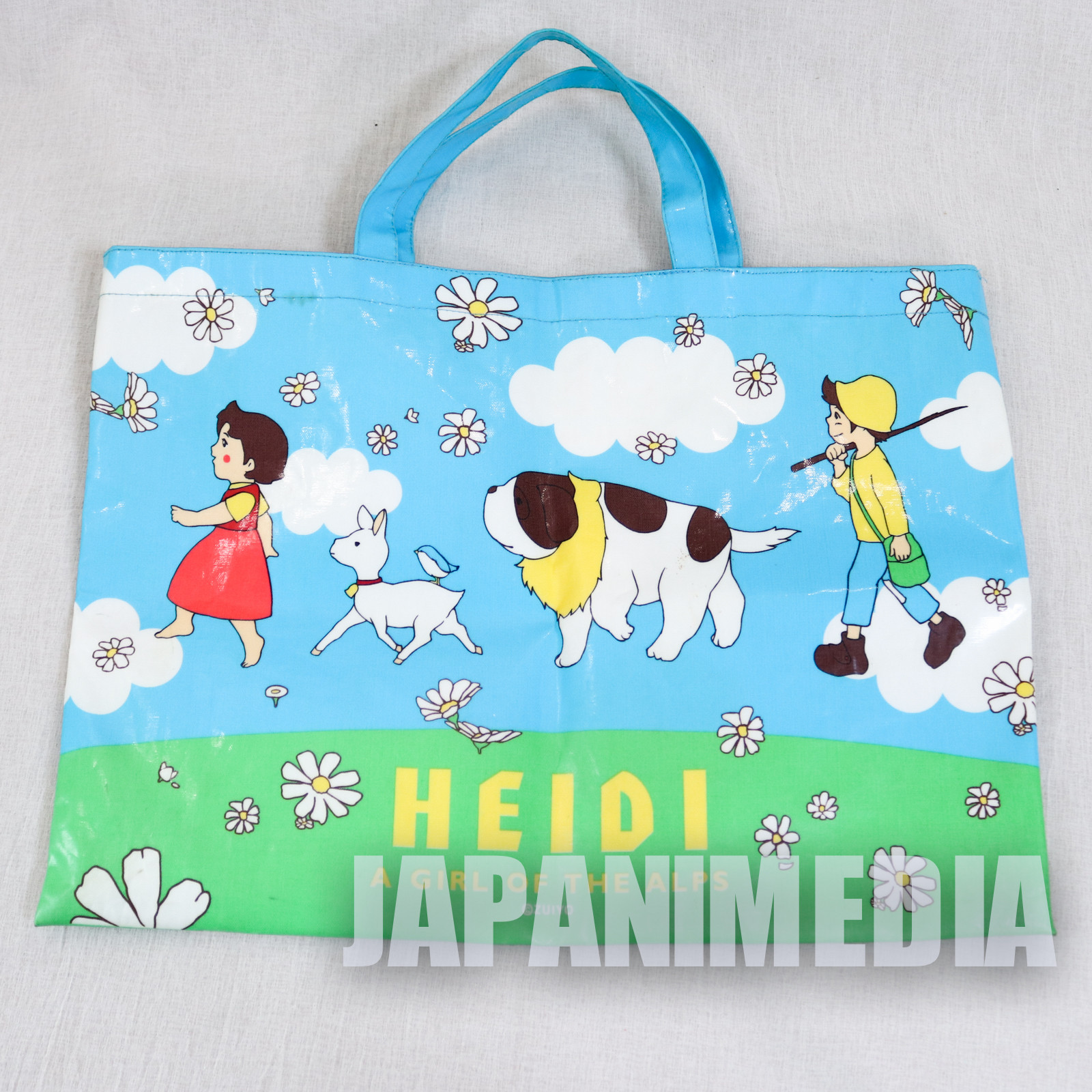Heidi Girl of the Alps Retro Vinyl Tote Bag 11x15 inch JAPAN ANIME