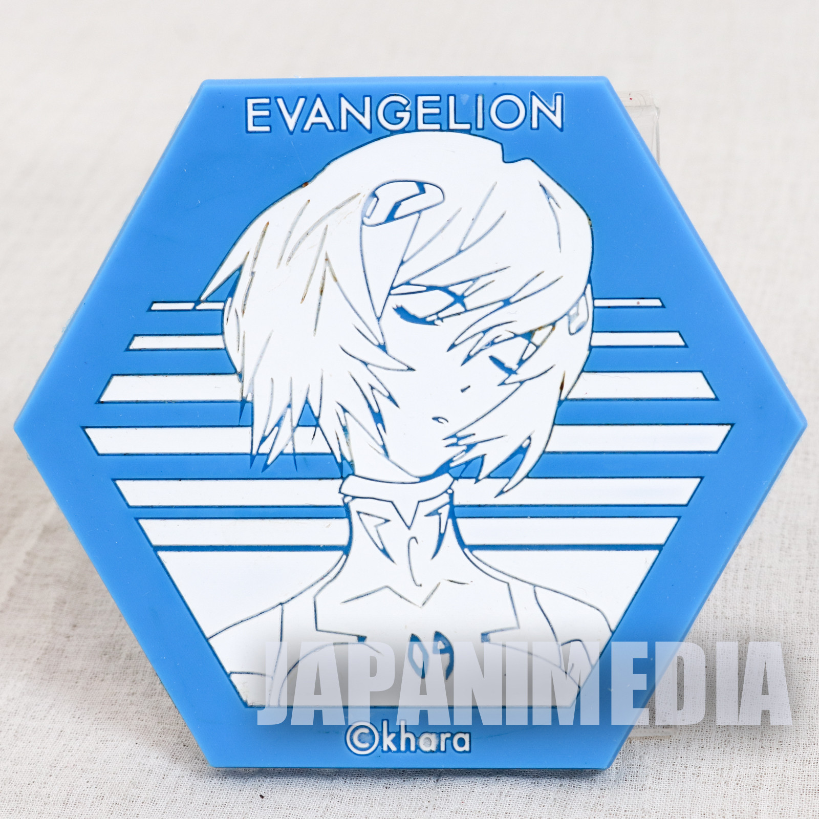 Evangelion Rei Ayanami Rubber Coaster Exhibition Limited JAPAN