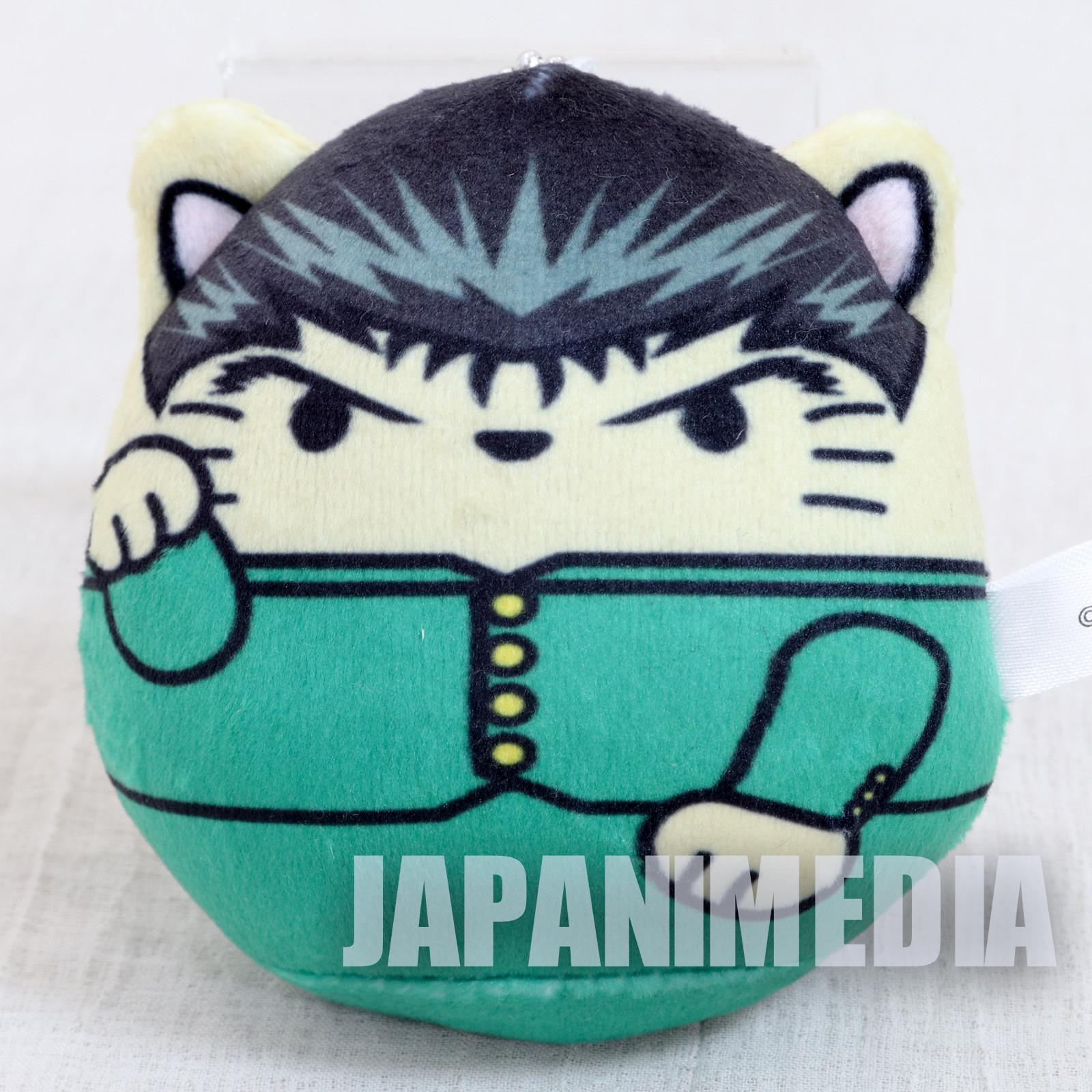 Yu-Yu Hakusho Yusuke Maneki-mochi Neko Plush Doll Mascot Ballchain JAPAN
