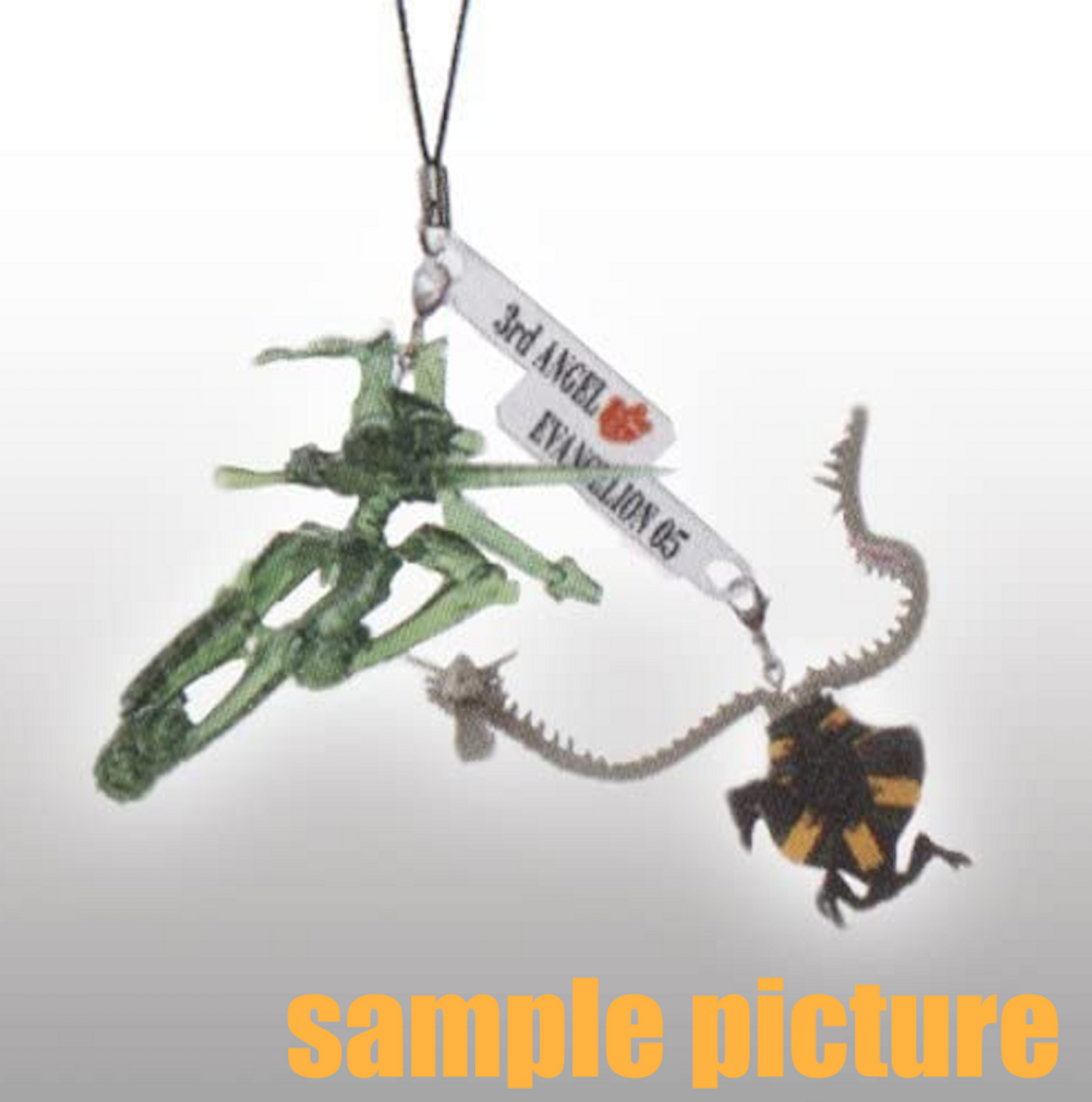 Evangelion EVA-05 vs 3rd Angel Twin Figure Strap JAPAN ANIME