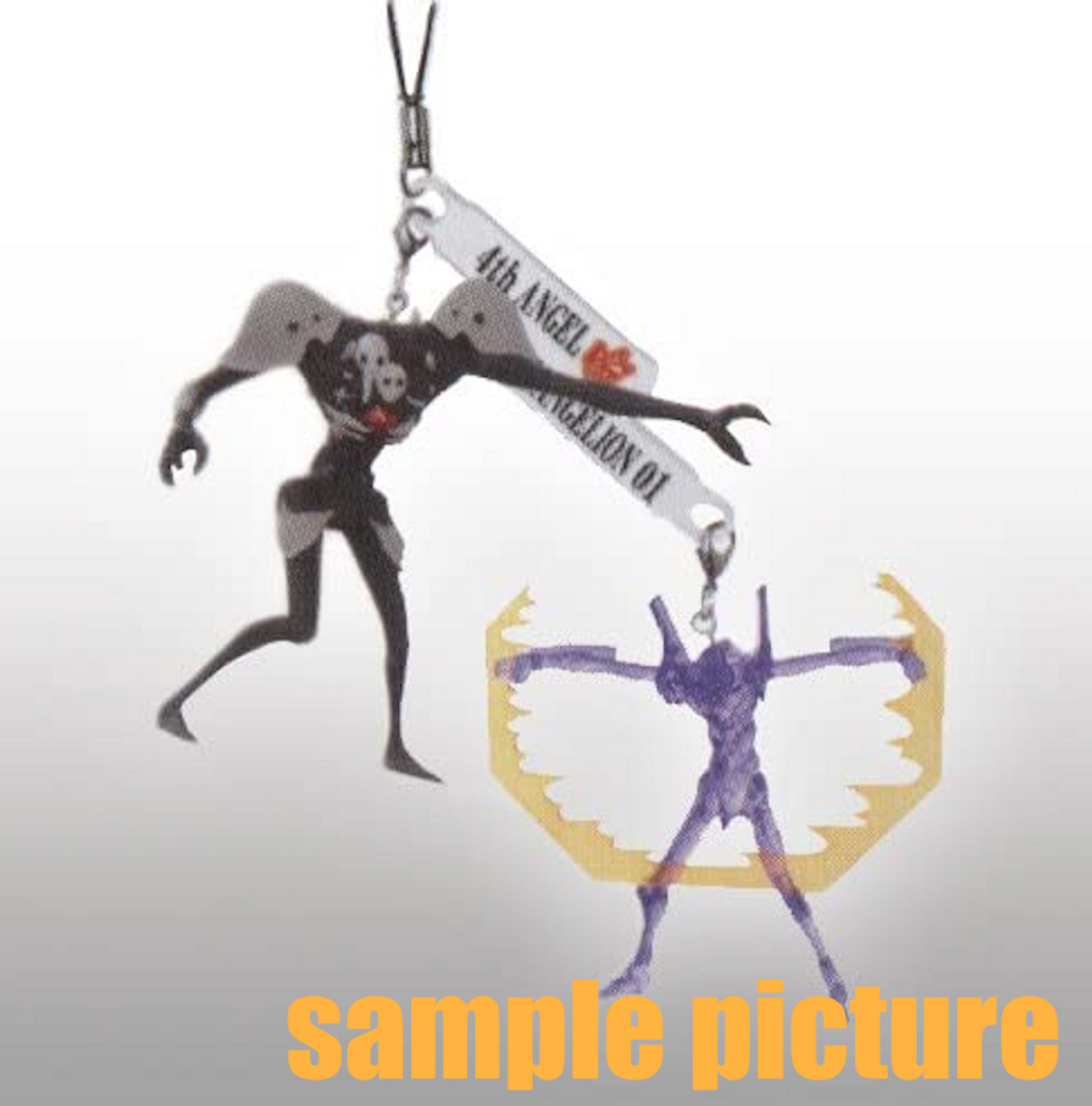Evangelion EVA-01 vs Sachiel 4th Angel Twin Figure Strap JAPAN ANIME