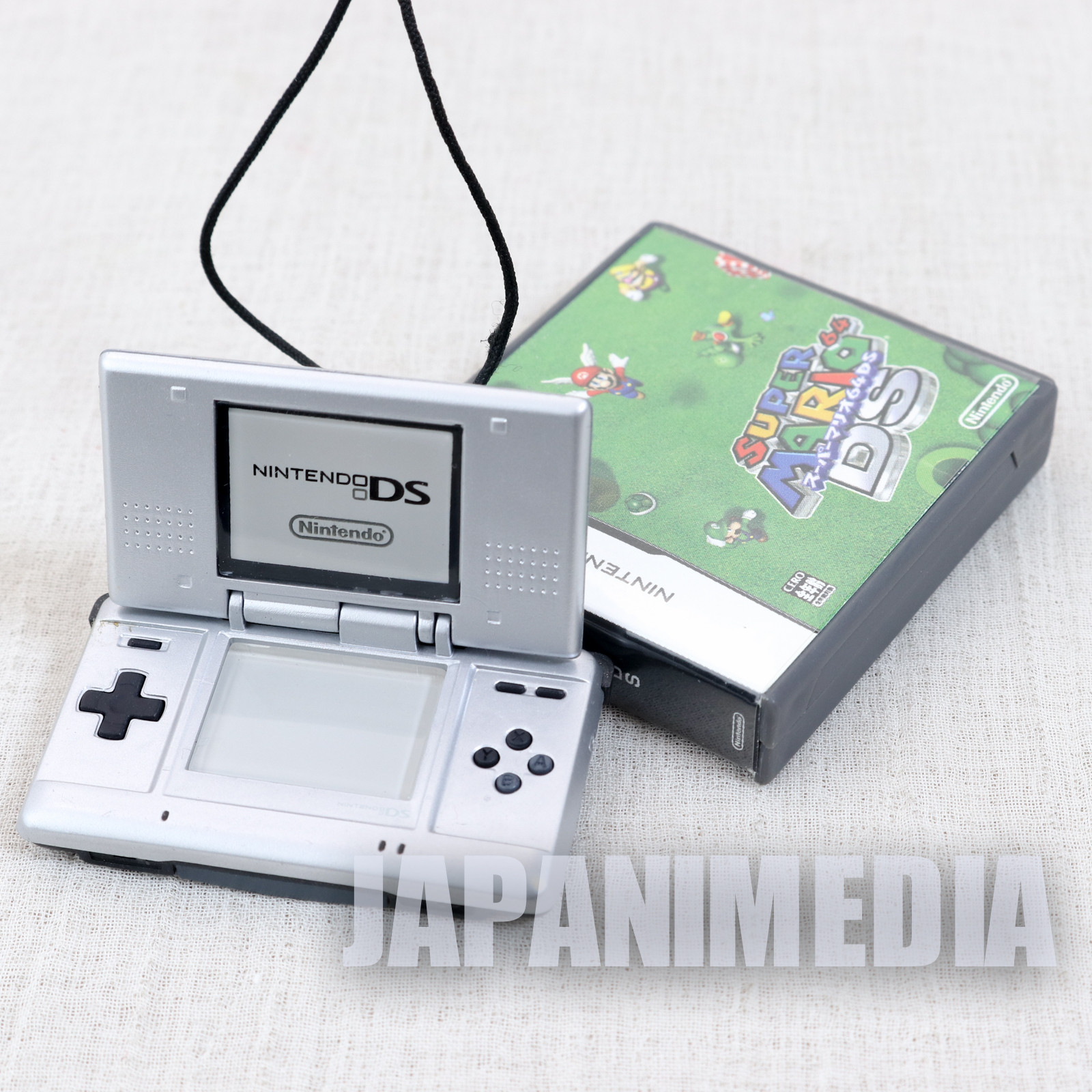 Nintendo DS + Super Mario 64 DS Miniature Figure Card Case Twin Strap JAPAN