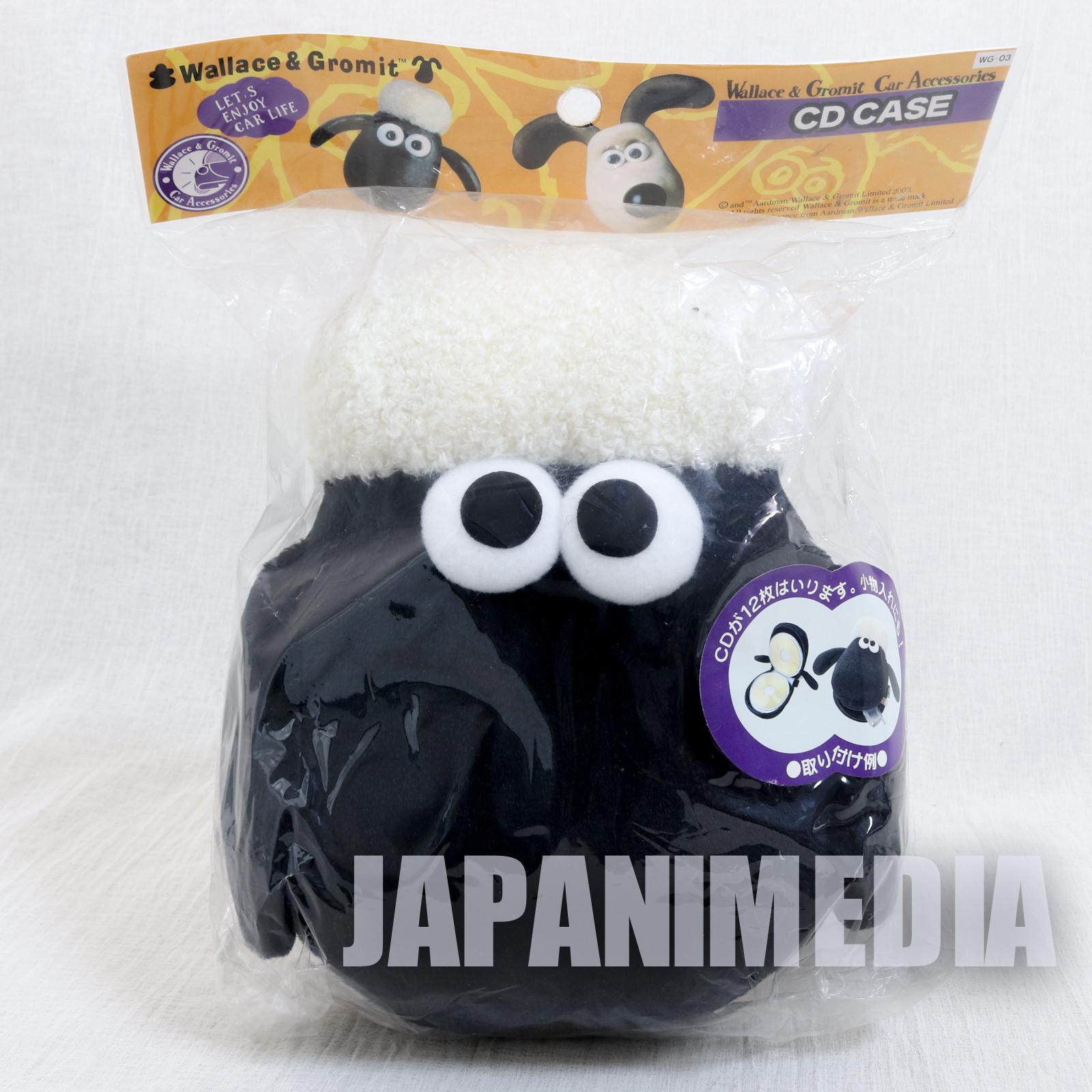 Wallace & Gromit Shaun Plush type CD disk Case JAPAN Ardman ANIME
