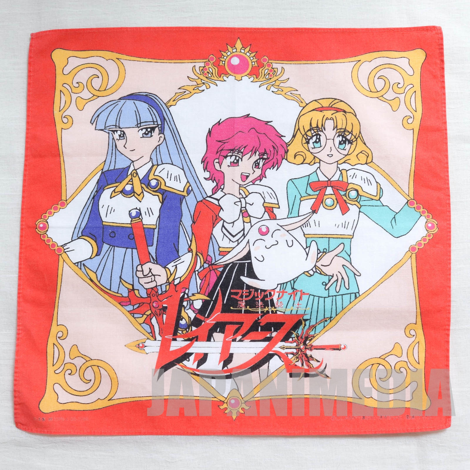 Magic Knight Rayearth Handkerchief [Hikaru | Umi | Fu | Mokona] CLAMP JAPAN