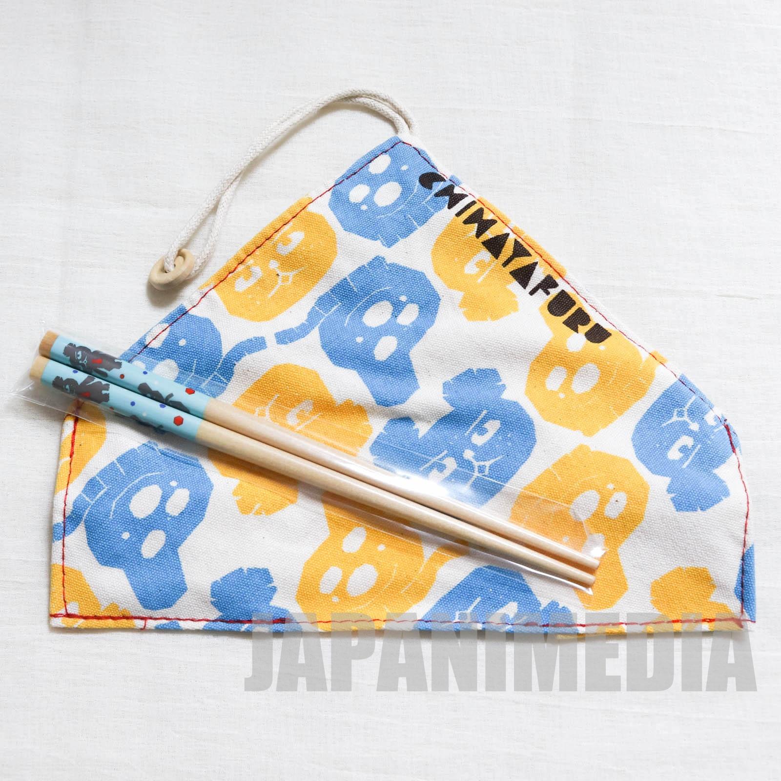 Chihayafuru Daddy Bear & Snowmaru Chopsticks & Cloth case JAPAN ANIME