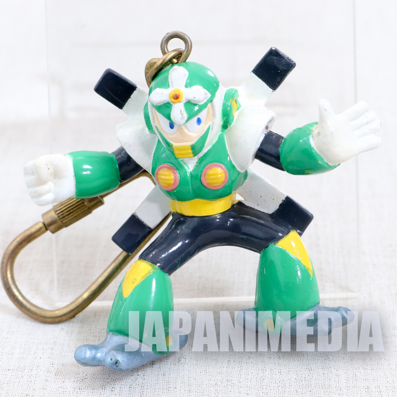 MEGA MAN 5 Gyro man Figure Keychain JAPAN GAME CAPCOM ROCKMAN