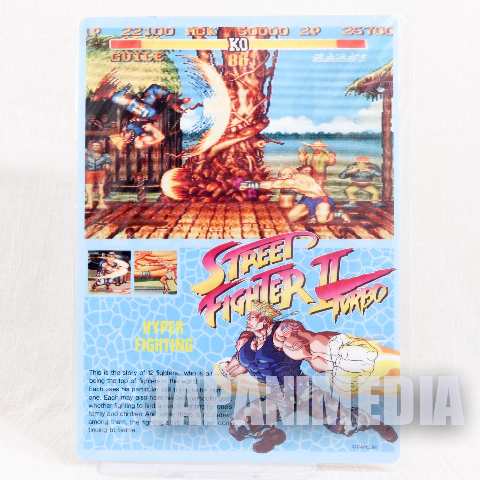 Street Fighter II GUILE Pencil Board Pad Shitajiki JAPAN CAPCOM