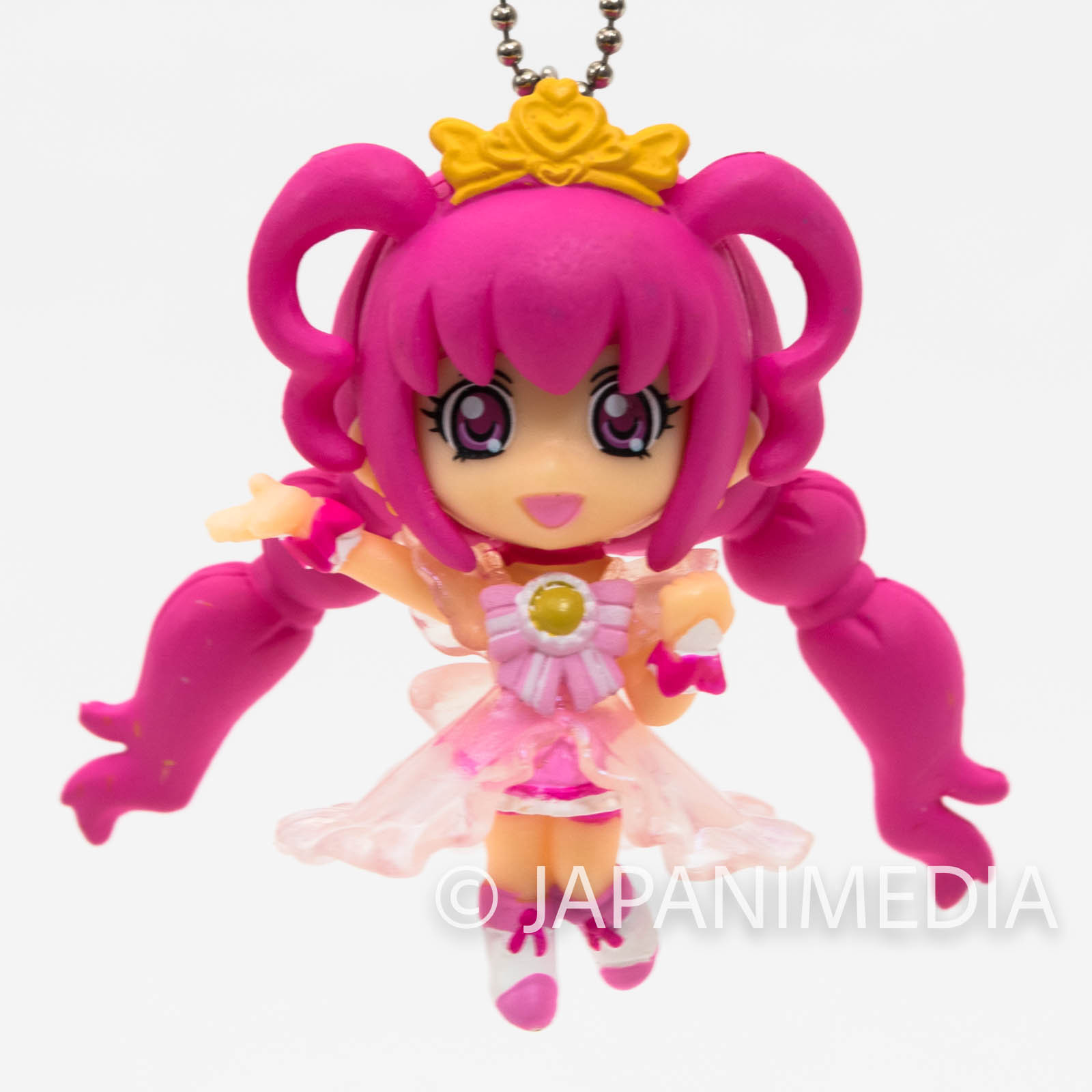 Smile PreCure! Princess Happy PreCure Mascot Figure Ball Keychain JAPAN ANIME