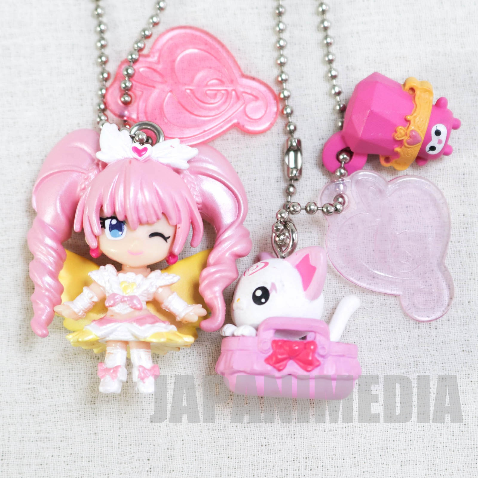 Suite PreCure Crescendo Cure Melody / Hummy & Dory PreCure Goddess Swing Mascot Figure Ball Keychain 2pc set JAPAN ANIME