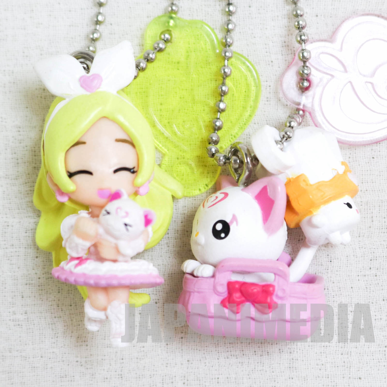 Suite PreCure Cure Rhythm / Hummy & Rery PreCure Goddess Swing Mascot Figure Ball Keychain 2pc set JAPAN ANIME