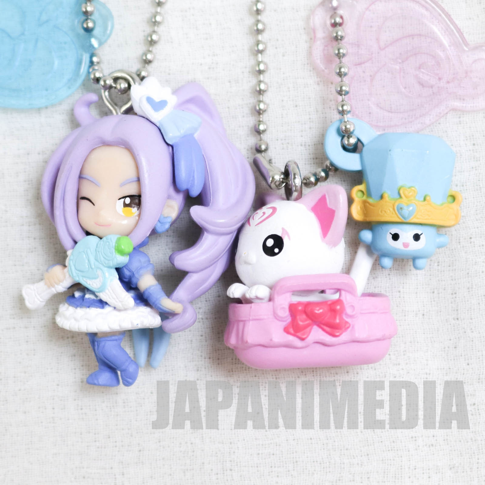 Suite PreCure Cure Beat / Hummy & Lary PreCure Goddess Swing Mascot Figure Ball Keychain 2pc set JAPAN ANIME