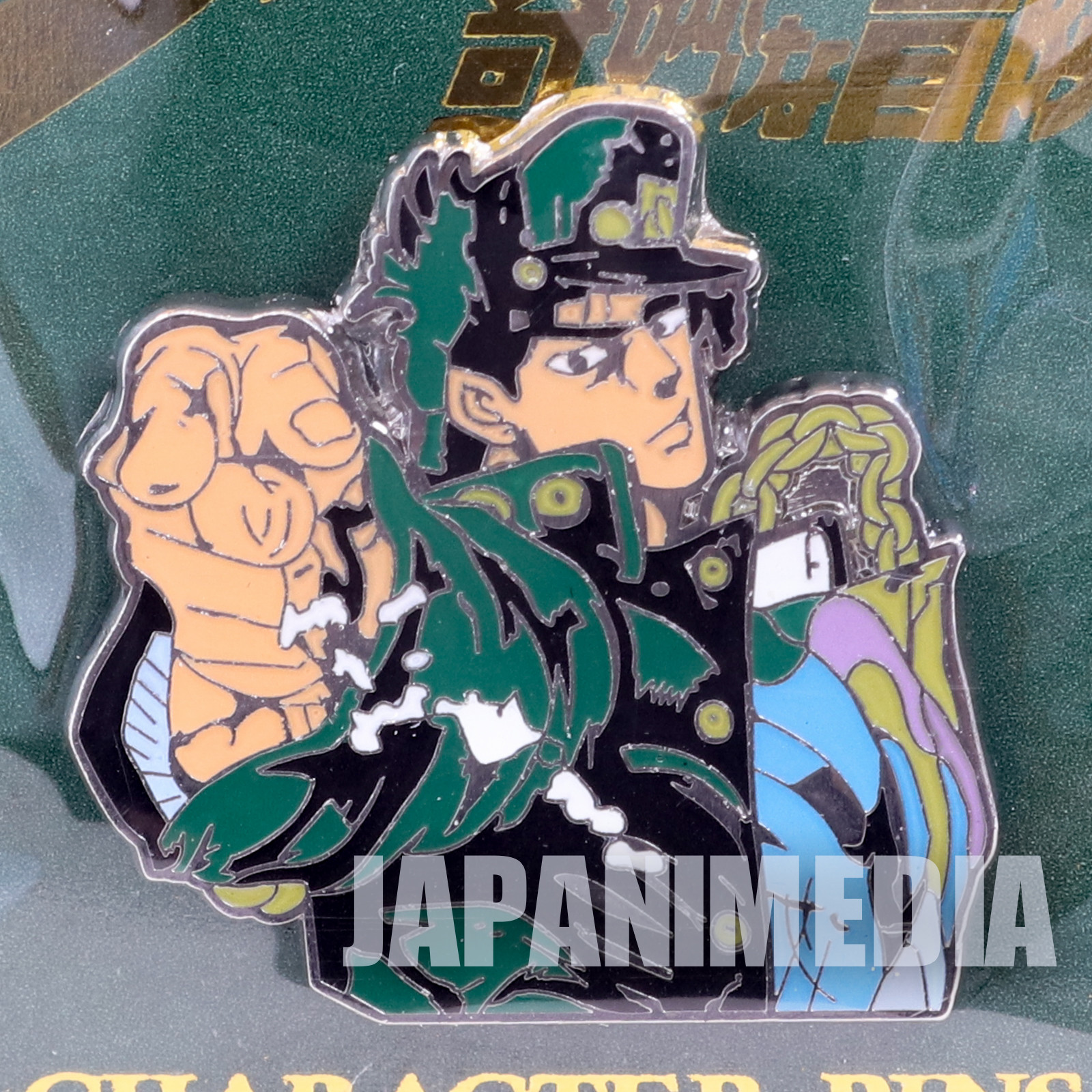 JoJo's Bizarre Adventure Kujo Jotaro Metal Pins JAPAN ANIME