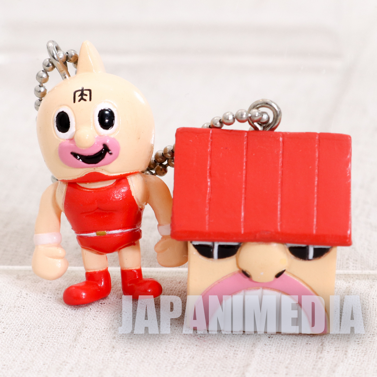 KINNIKUMAN Kinnikuman + House Set Panson Works Mini Figure Ballchain JAPAN