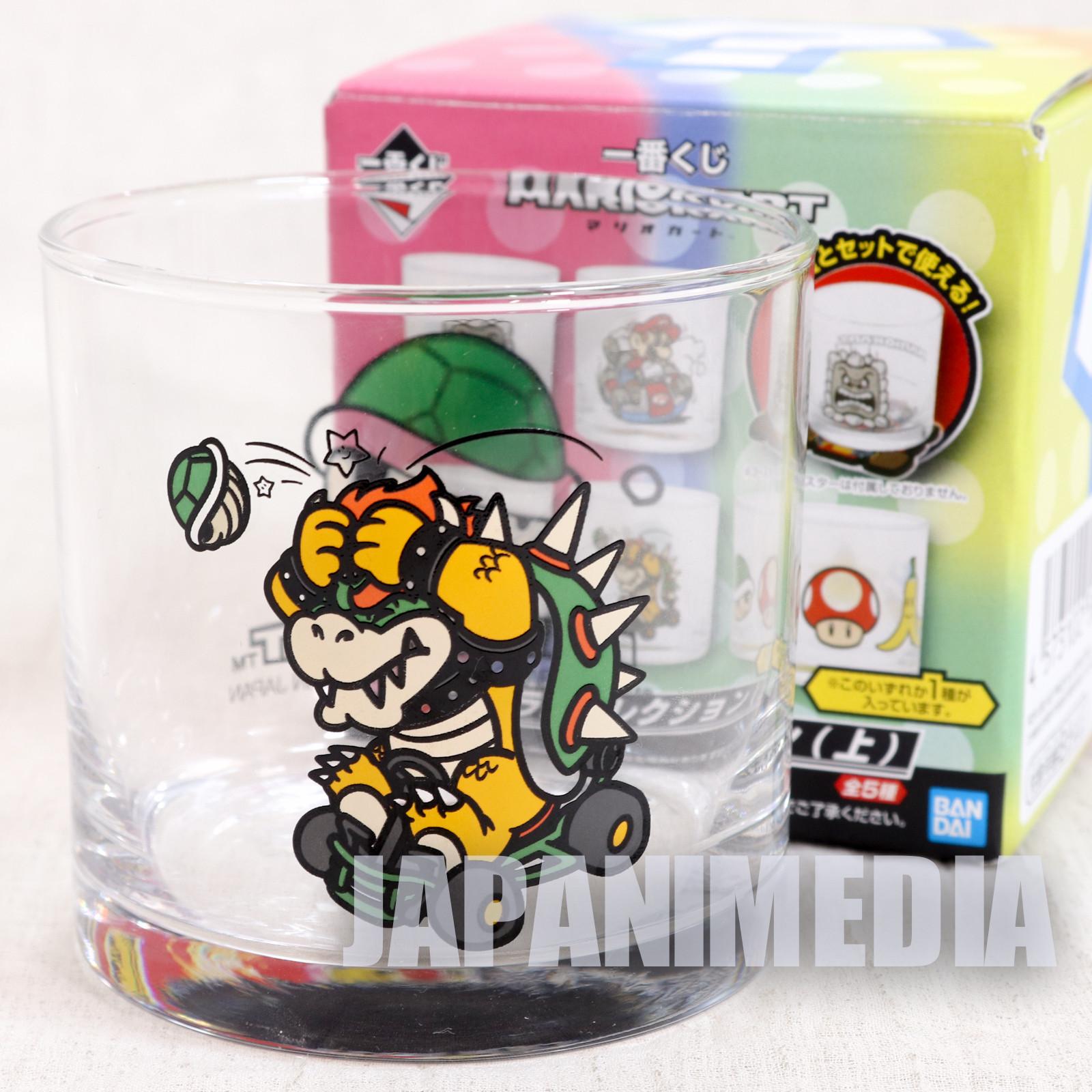 Super Mario Kart Kuppa Bowser Rock Glass Banpresto JAPAN GAME NES