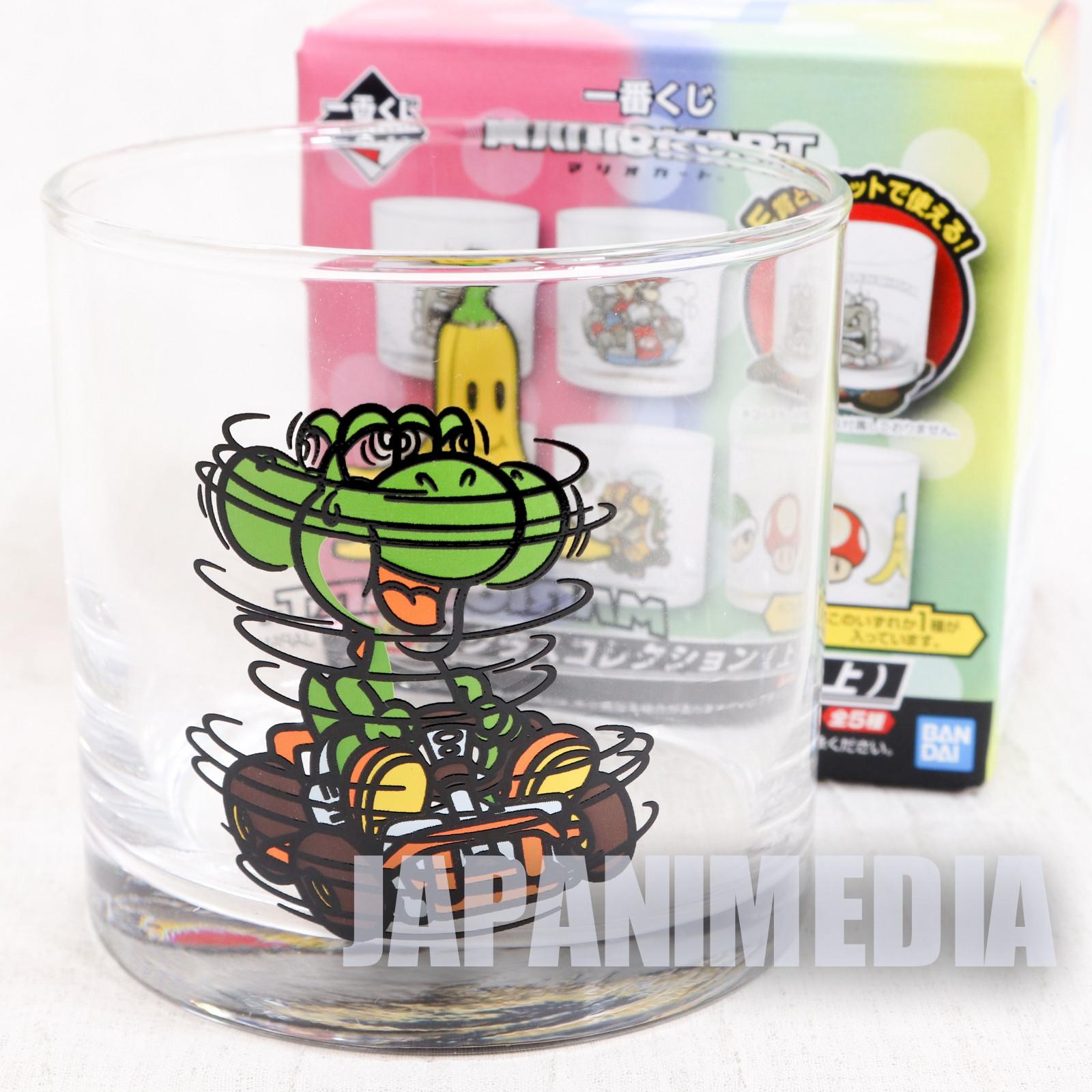 Super Mario Kart Yoshi Rock Glass Banpresto JAPAN GAME NES