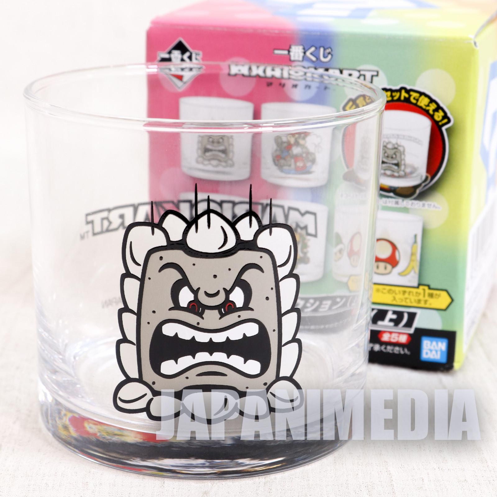 Super Mario Kart Thwomp Rock Glass Banpresto JAPAN GAME NES