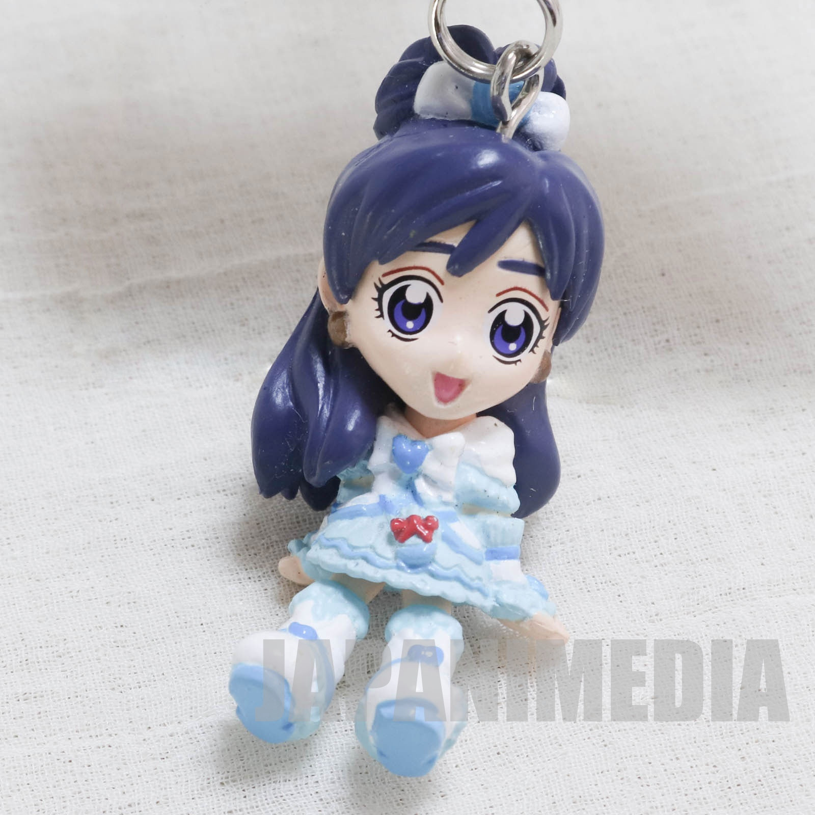 Futari wa Pretty Cure Max Heart Cure White Figure Keychain with Ribbon JAPAN