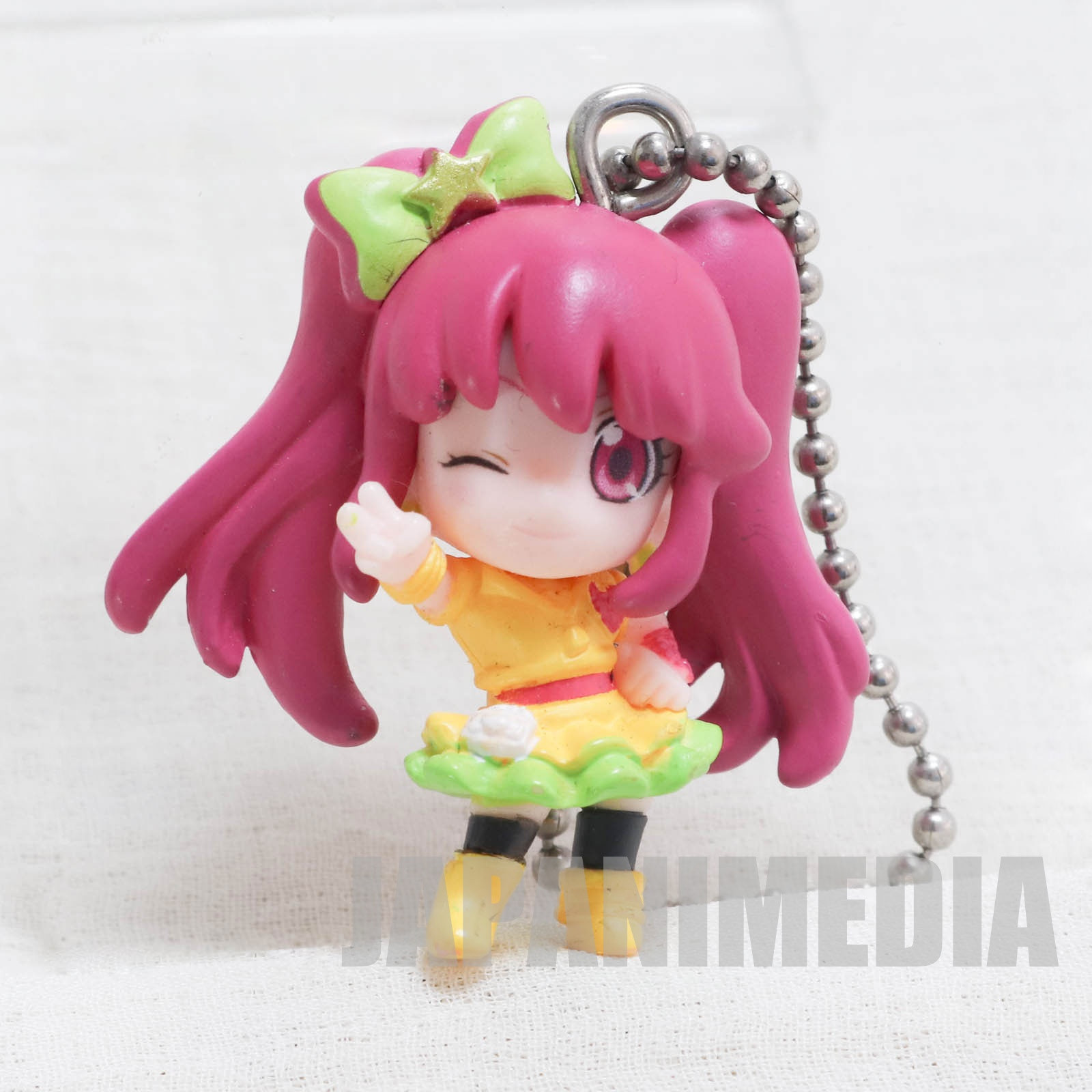 HappinessCharge PreCure! Cure Lovely  Lollipop hip hop ver. Kawa Run Run Swing Figure Ball keychain JAPAN ANIME