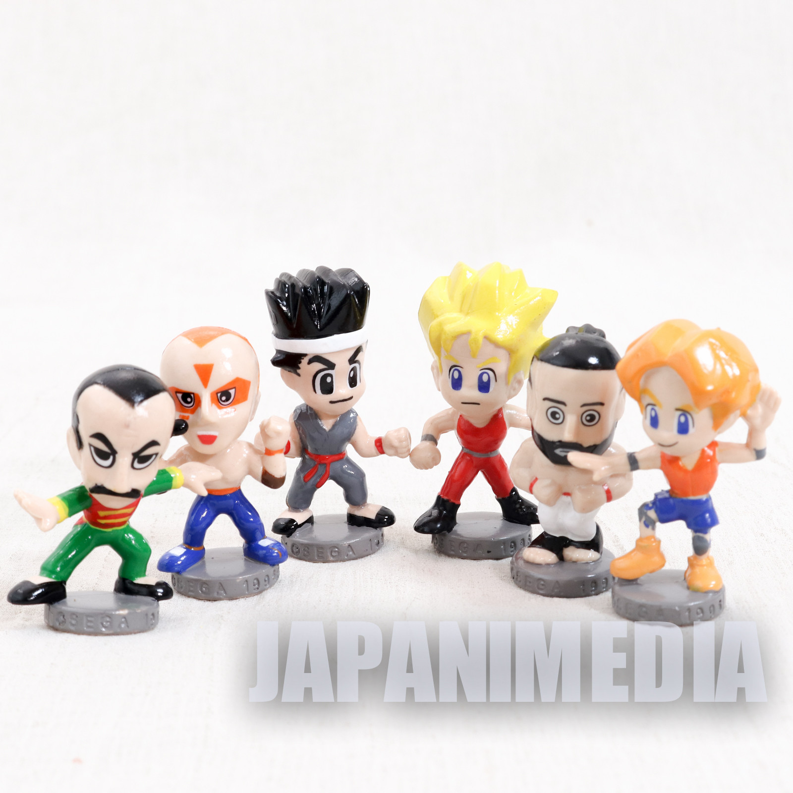 Virtua Fighter Mini Figure 6pc Set Akira Jacky Wolf Lion Lau SEGA JAPAN GAME 2