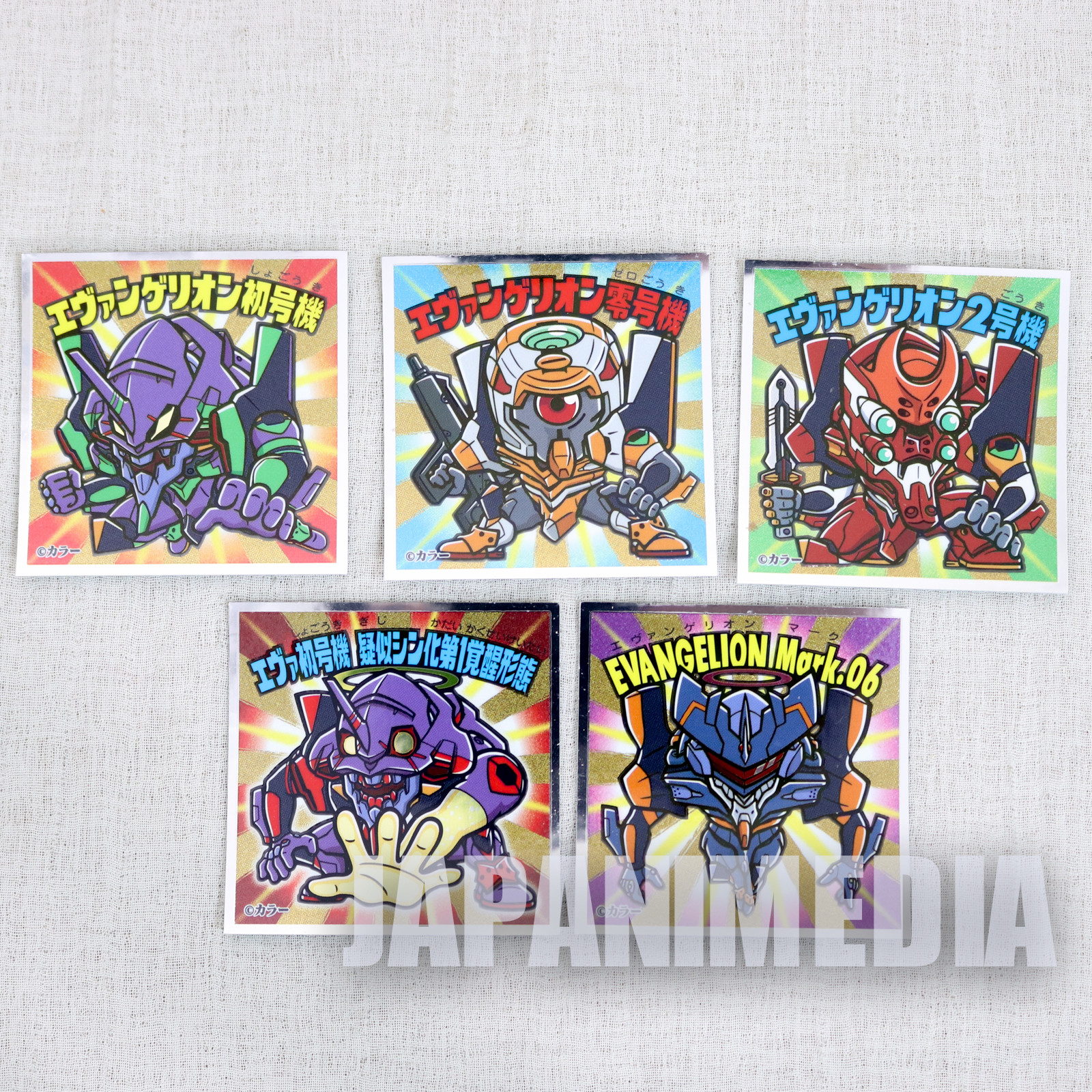 Evangelion EVA-KKURIMAN Sticker 5pc Set EVA series BIKKURIMAN JAPAN ANIME