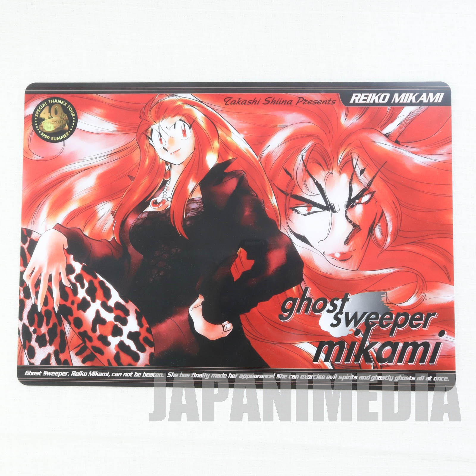 Ghost Sweeper Mikami Picture Plastic Pencil Board Pad Shitajiki JAPAN MANGA 1