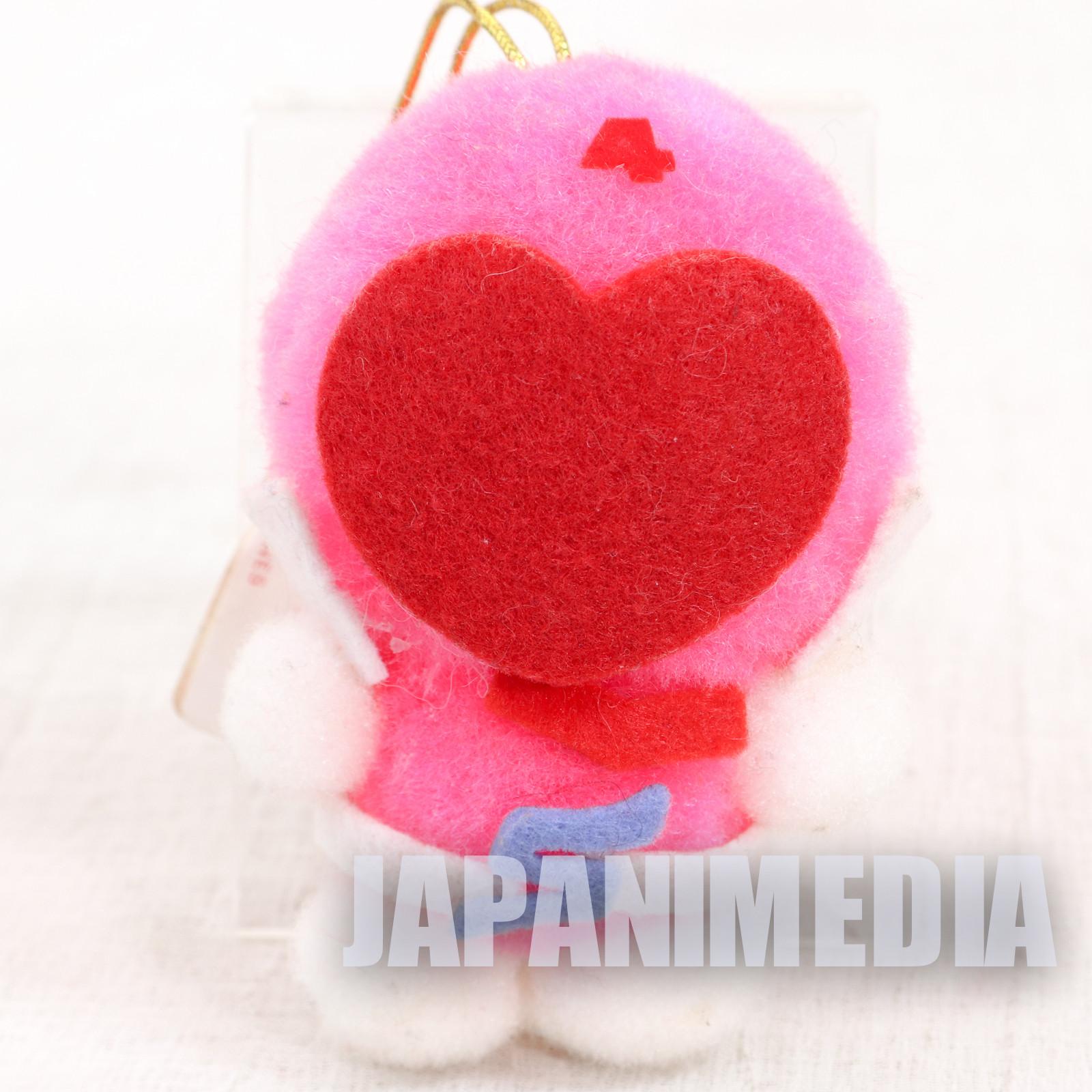 Retro RARE! Goranger Pink Momoranger Small Size Plush Doll JAPAN TOKUSATSU