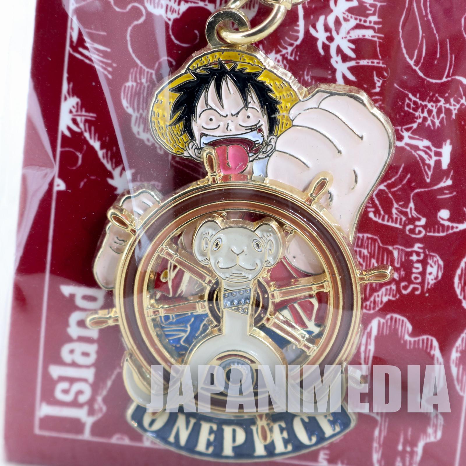One Piece Luffy Metal Charm Keychain Shonen Jump JAPAN ANIME 2