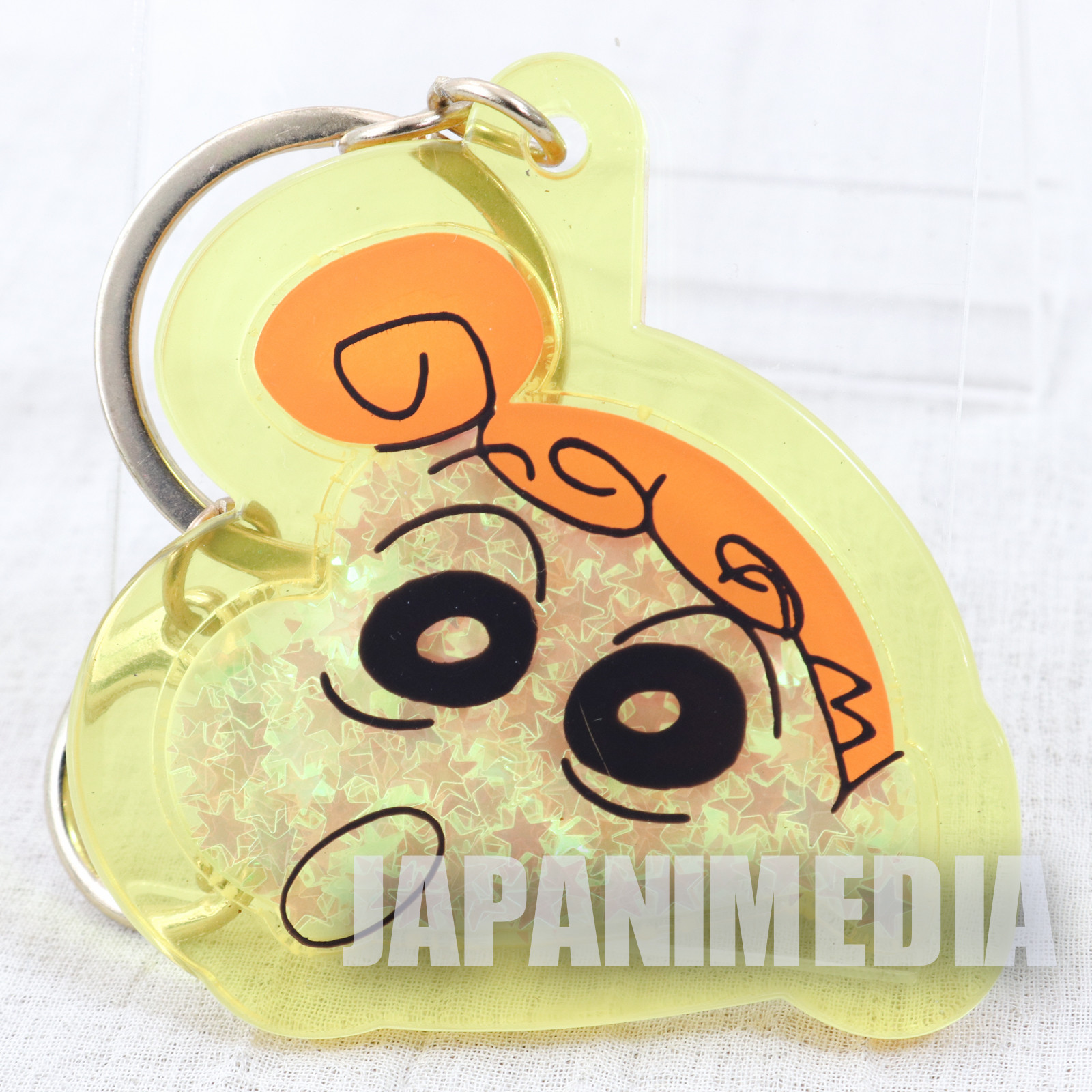 Crayon Shin-chan Himawari Nohara Mascot Star-shaped Sequins Keychain JAPAN ANIME