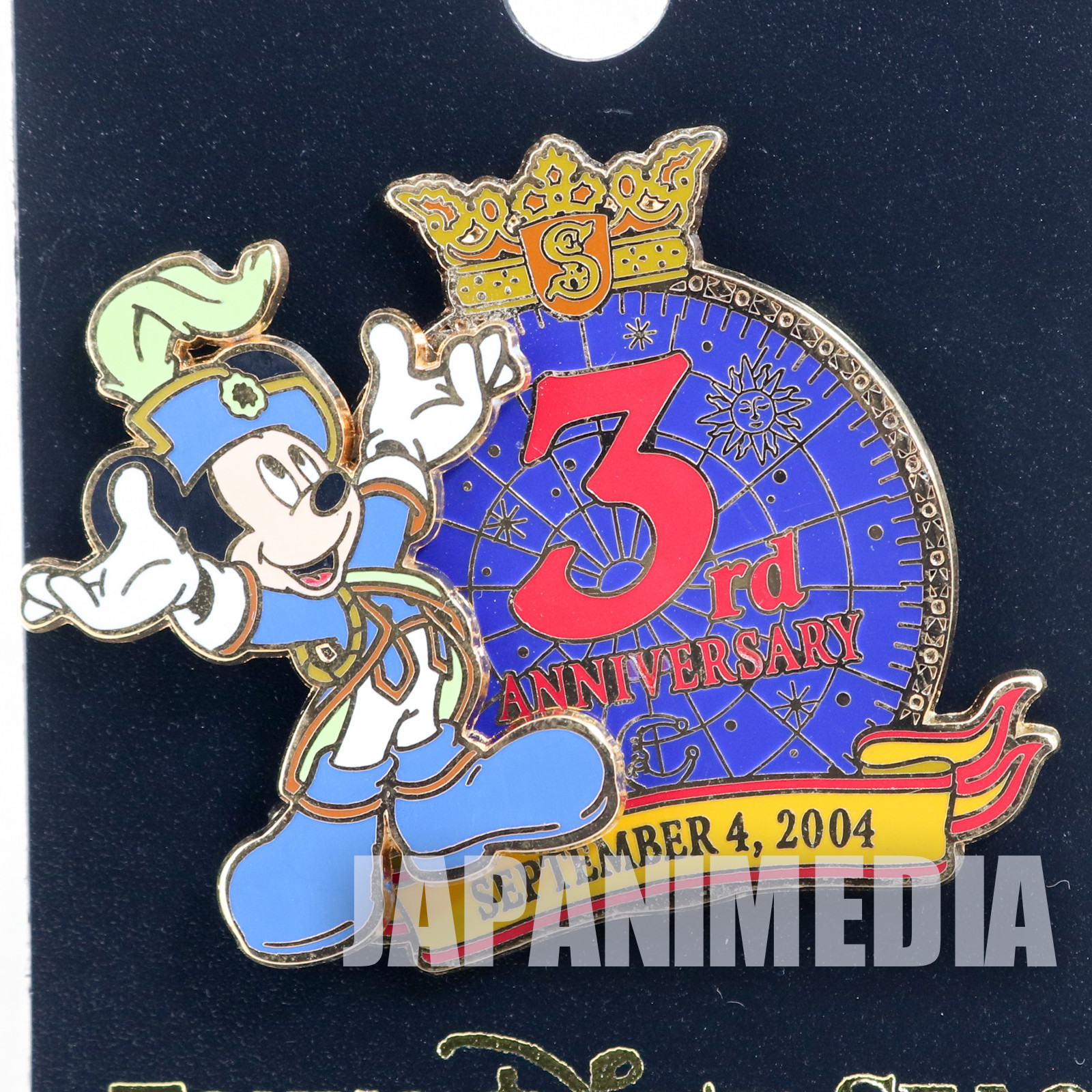 Tokyo Disney Sea 3rd Anniversary 2004 Mickey Mouse Metal Pins