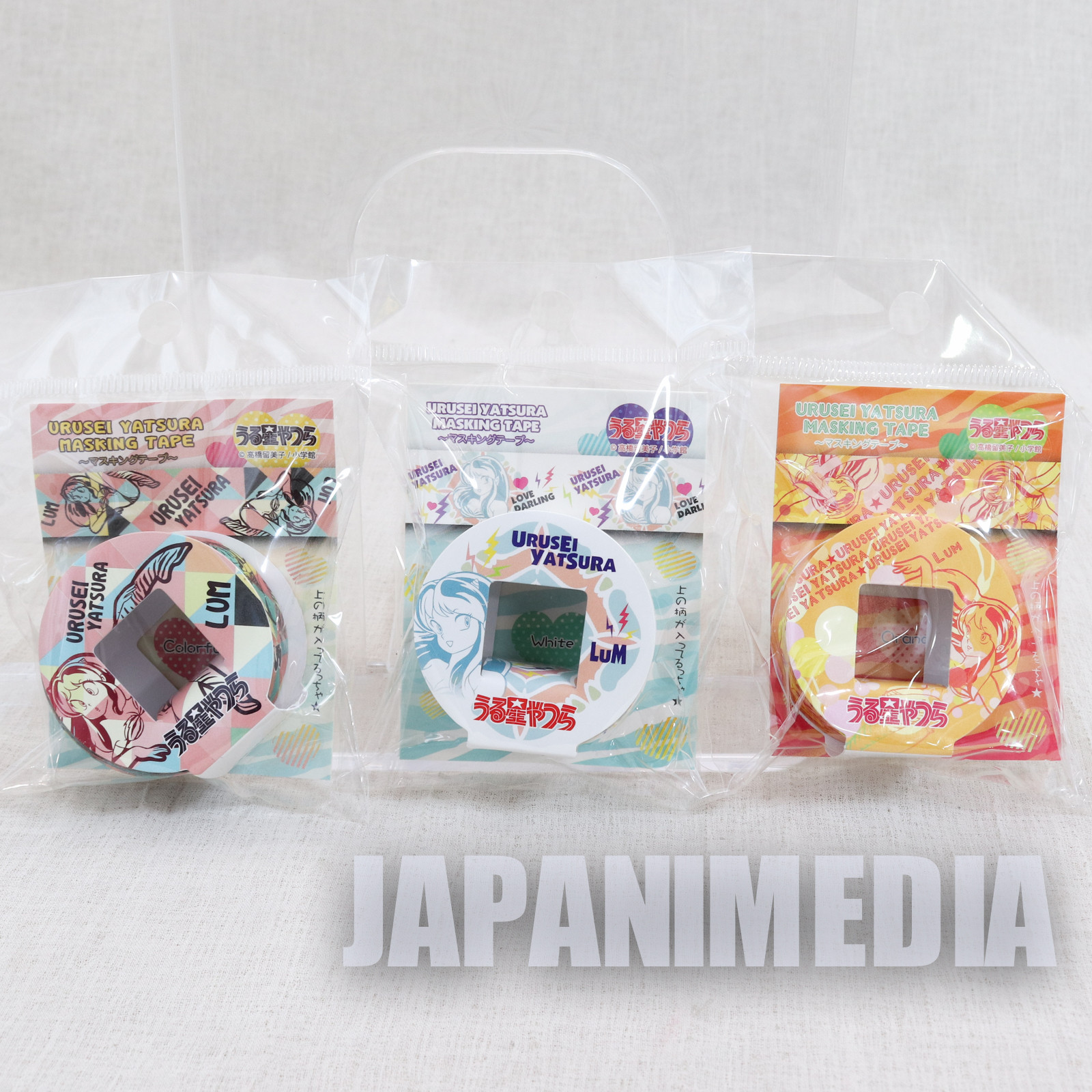 Urusei Yatsura Masking Tape 3ps Set JAPAN ANIME 1