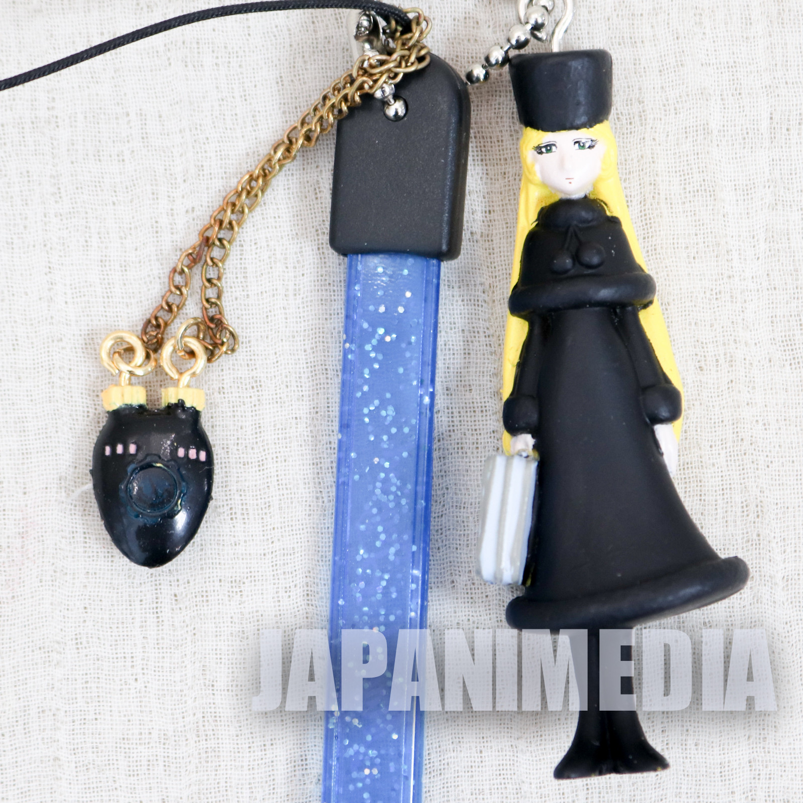 Galaxy Express 999 Maetel Legend Black Figure Strap JAPAN ANIME