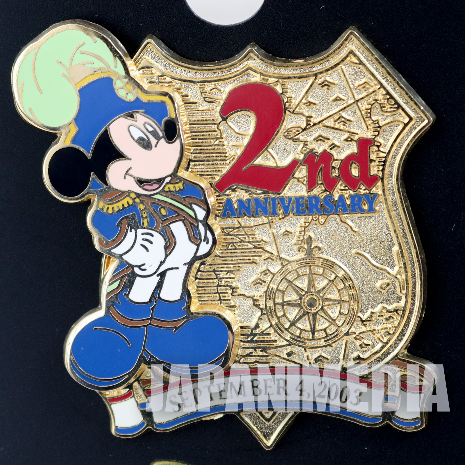Tokyo Disney Sea 2nd Anniversary 2003 Mickey Mouse Metal Pins