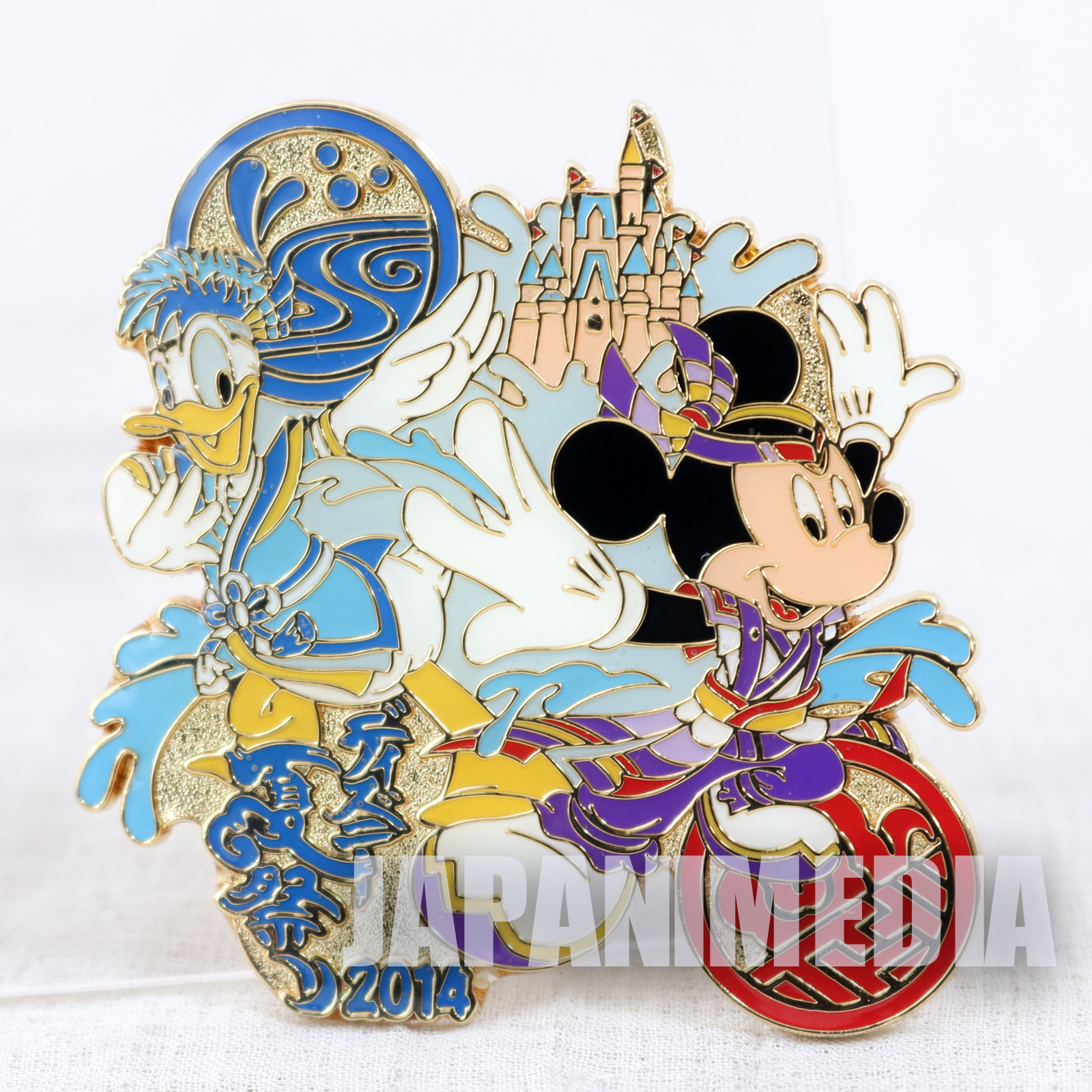 Tokyo Disney Land Summer Festival 2014 Mickey Mouse Donald Duck Metal Pins