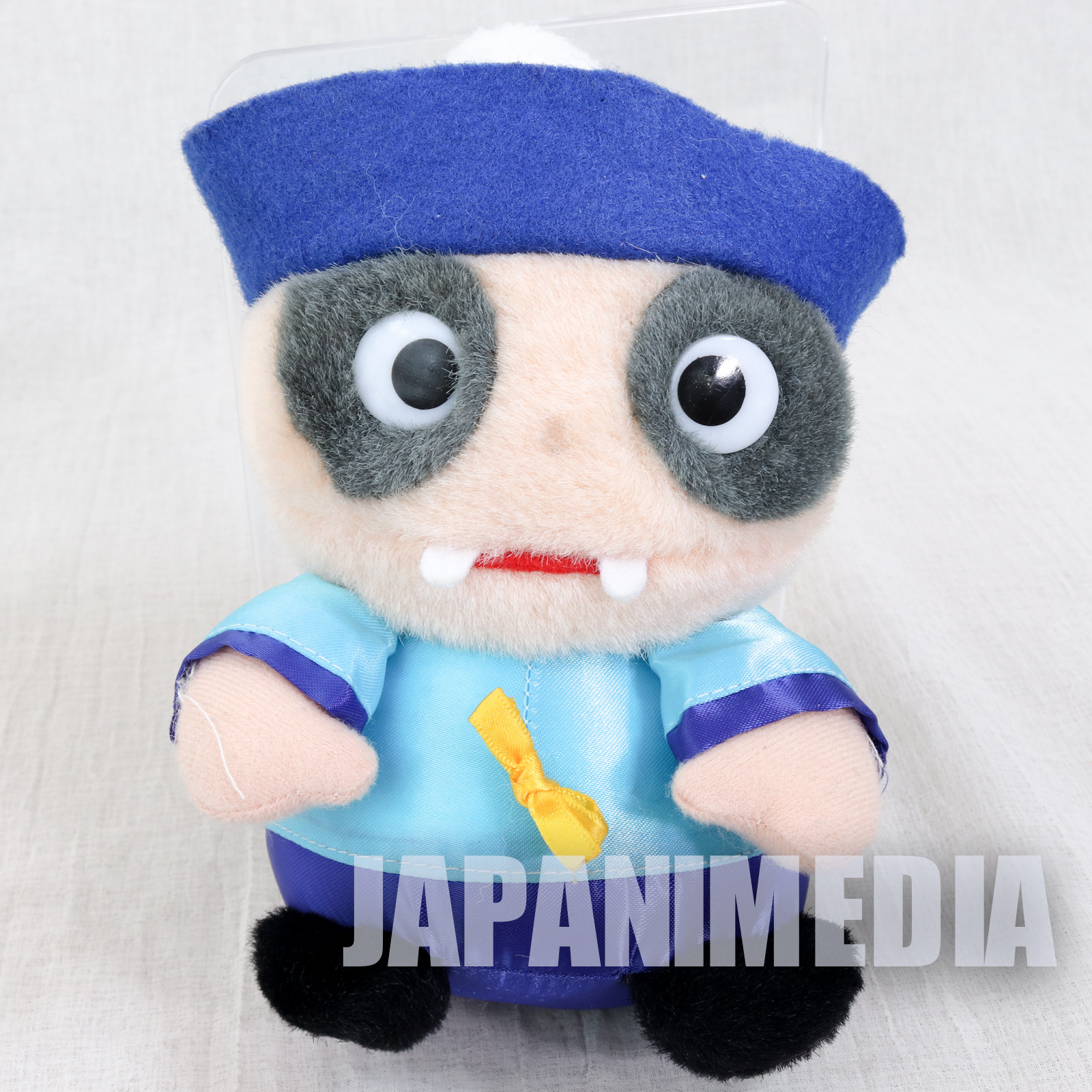 Retro RARE Mr. Vampire Jiangshi Hopping Zombie Plush Doll Blue ver. SEGA JAPAN
