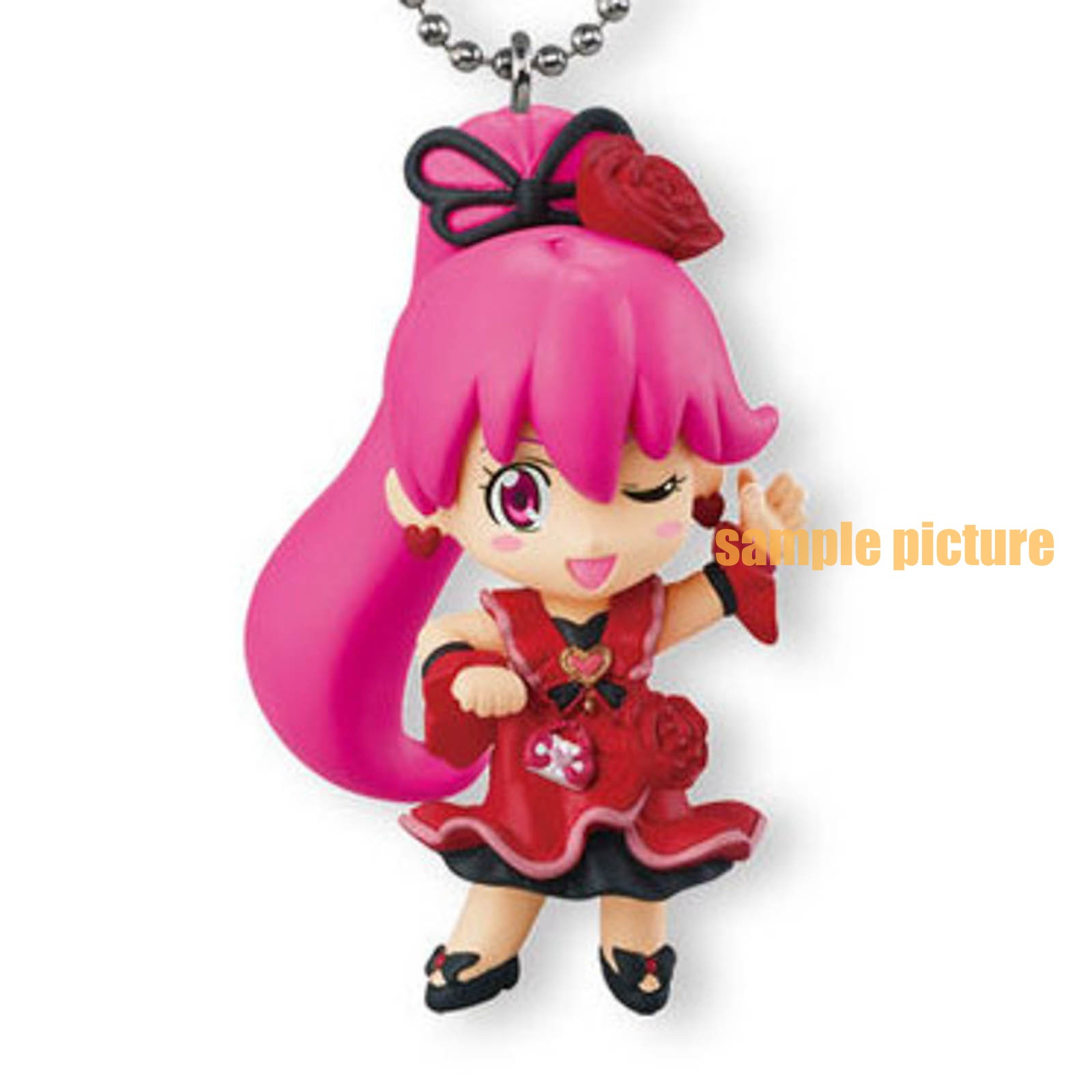 HappinessCharge PreCure! Cure Lovely (Cherry flamenco ver.) Mascot Figure Ball Keychain JAPAN ANIME