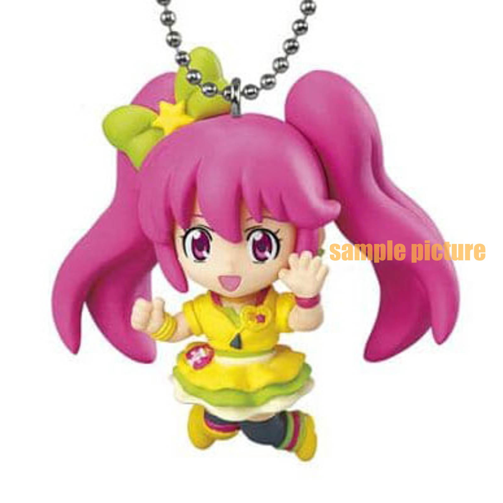 HappinessCharge PreCure! Cure Lovely (Lollipop hip hop ver. ) Mascot Figure Ball Keychain 2 JAPAN ANIME
