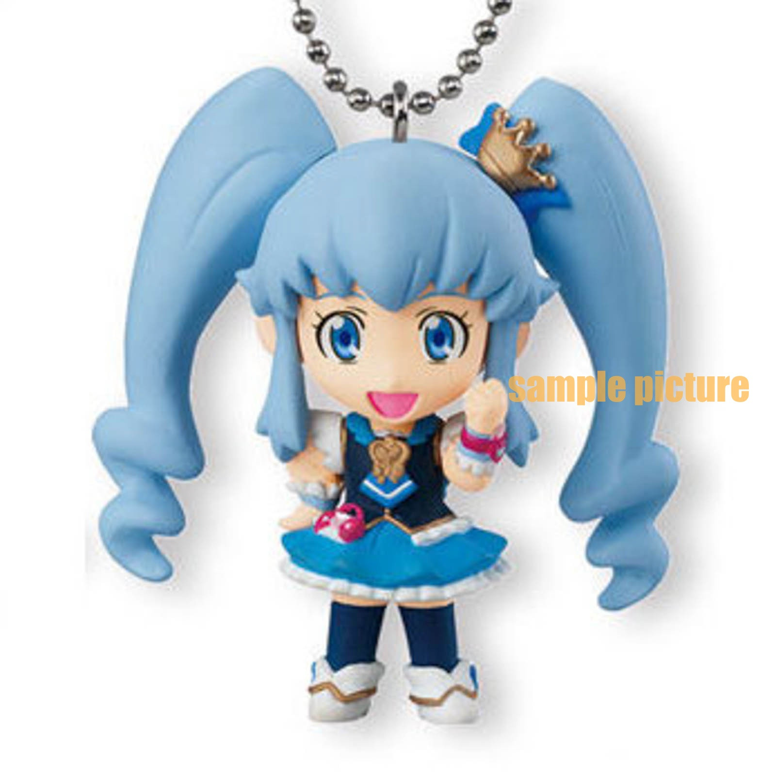 HappinessCharge PreCure! Cure Princess Mascot Figure Ball Keychain JAPAN ANIME