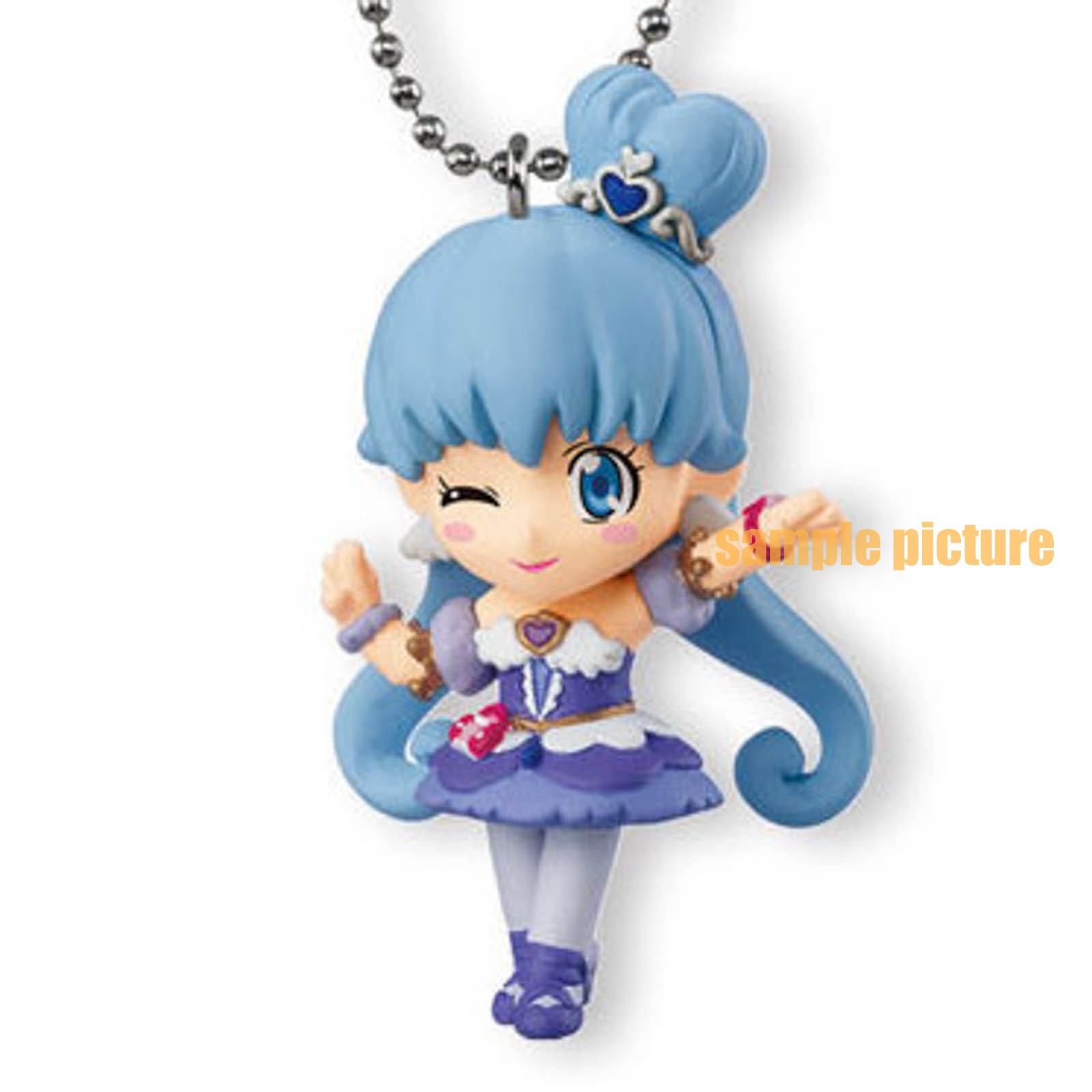 HappinessCharge PreCure! Cure Princess (Sherbet ballet ver.) Mascot Figure Ball Keychain JAPAN ANIME