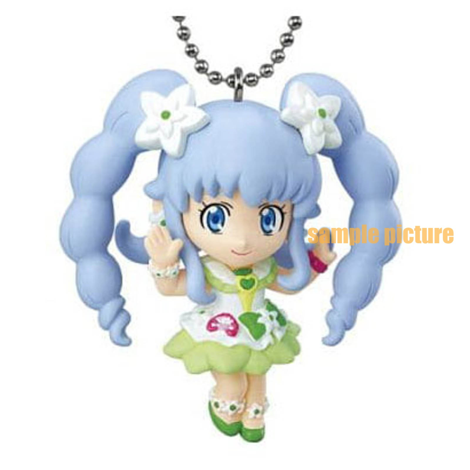 HappinessCharge PreCure! Cure Princess (Macadamia hula ver.) Mascot Figure Ball Keychain 2 JAPAN ANIME