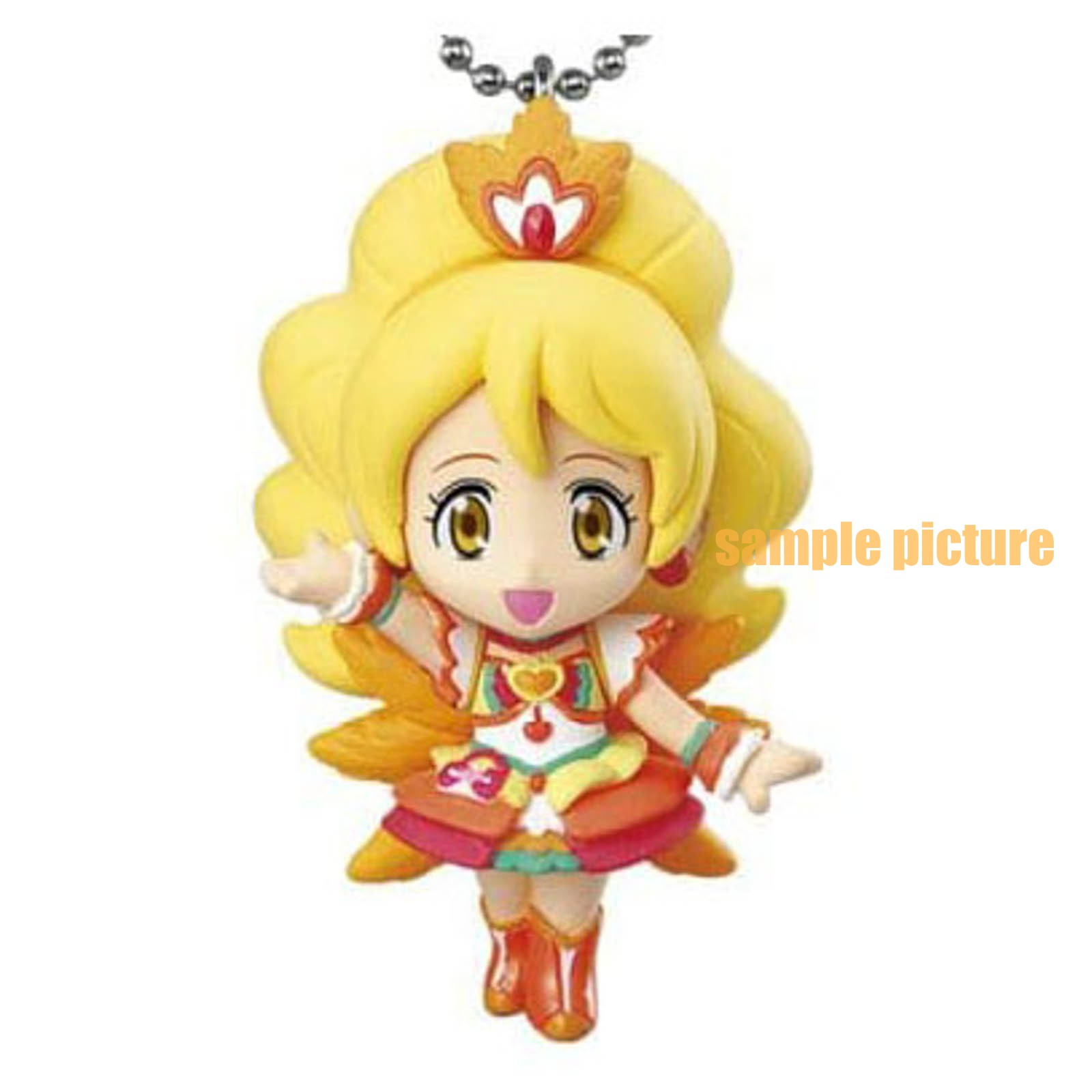 HappinessCharge PreCure! Cure Honey (Coconut samba ver.) Mascot Figure Ball Keychain 2 JAPAN ANIME