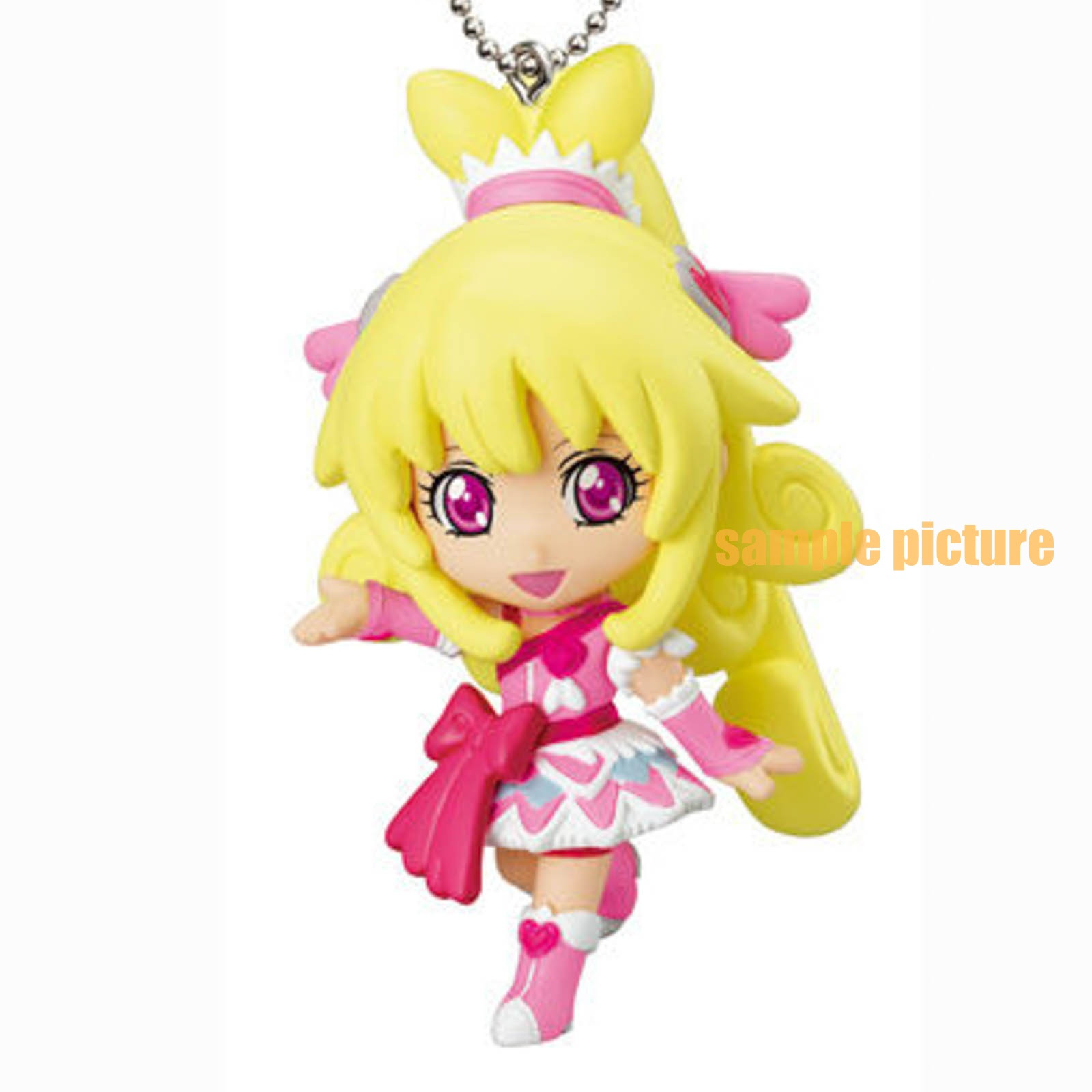 Doki Doki! PreCure Cure Heart Mascot Figure Ball Keychain JAPAN ANIME
