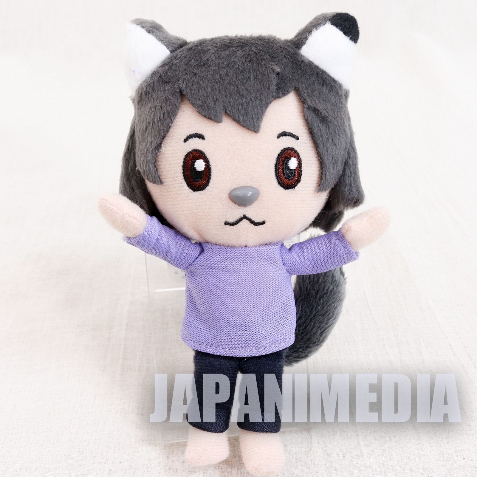 RARE! Wolf Children Ame Mini Plush Doll JAPAN ANIME Ookami Kodomo